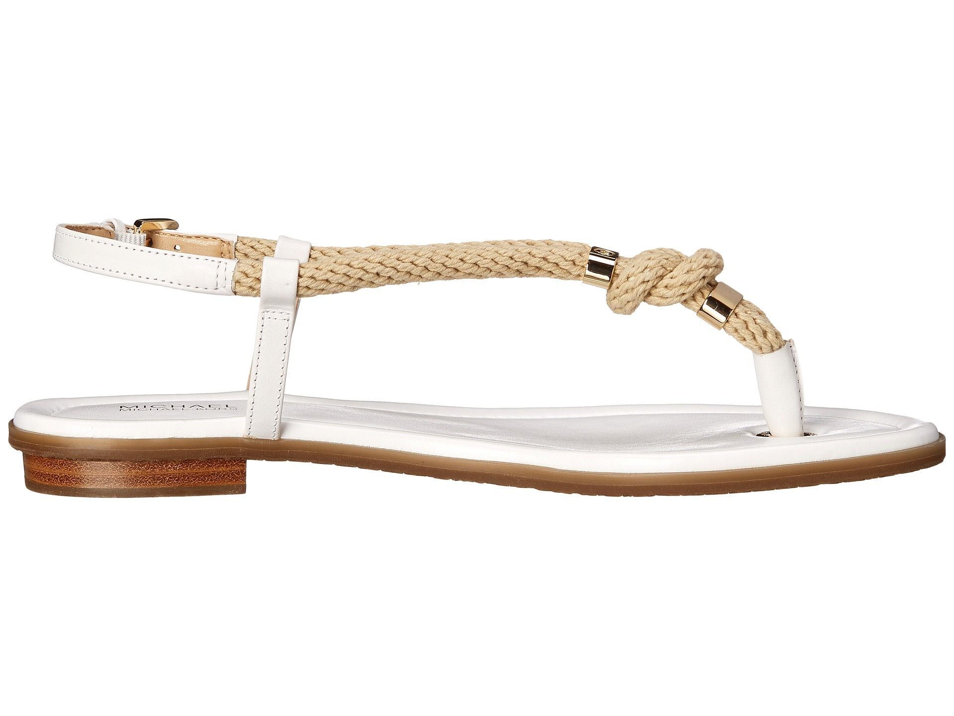 c6e6acfd6f29 Lyst - MICHAEL Michael Kors Holly Sandal in White