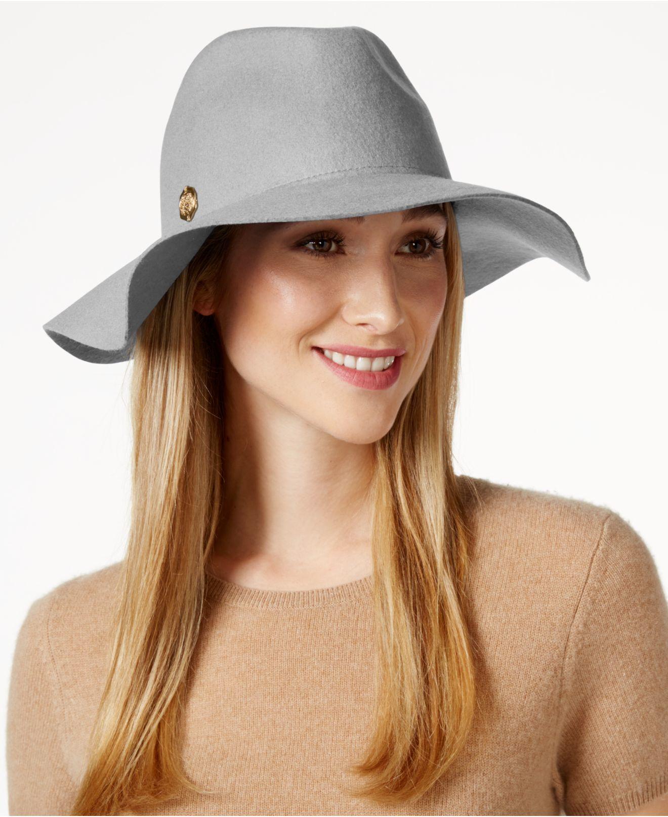 Lyst - Vince Camuto Wool Felt Panama Hat in Gray 0ff18f2b899