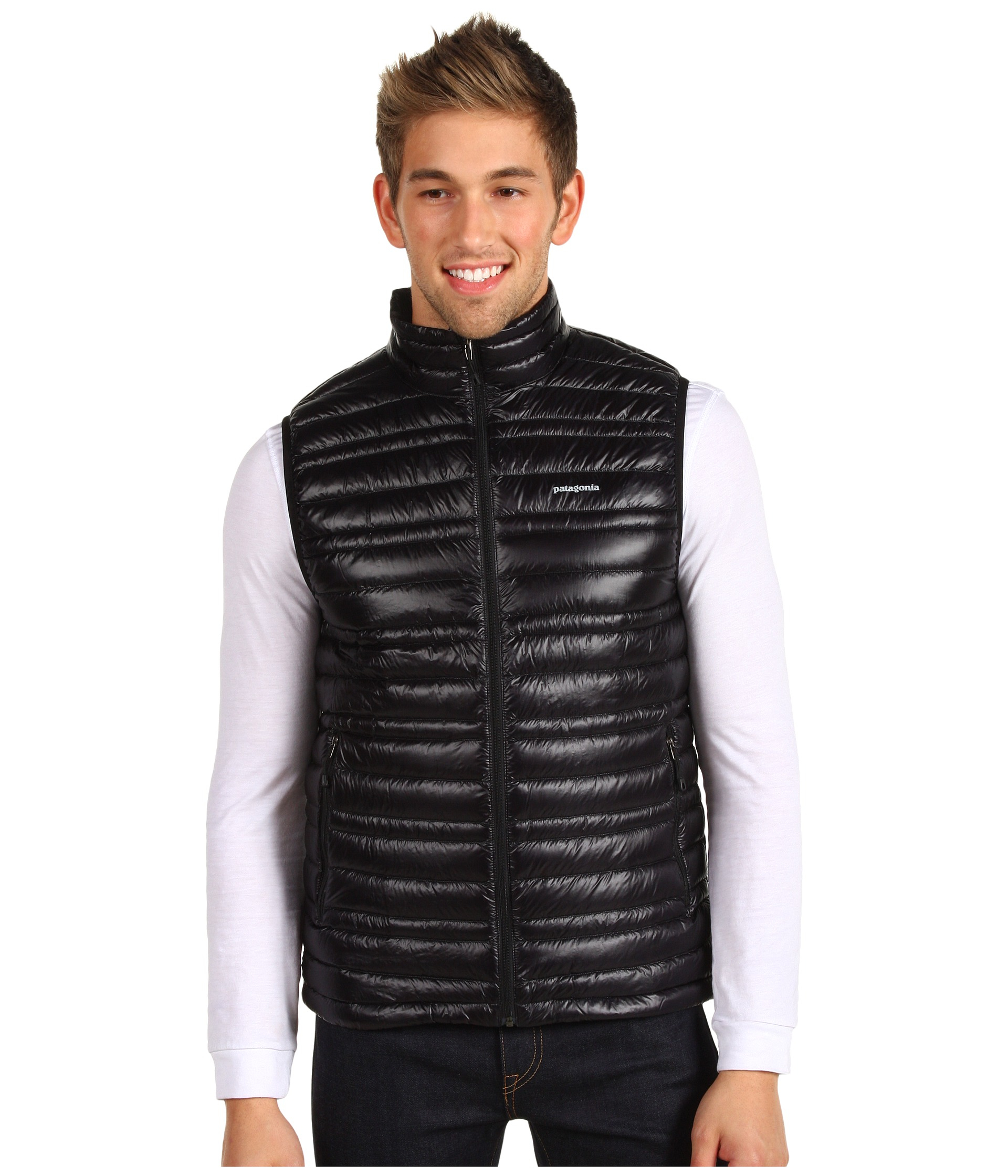 Patagonia Ultralight Down Vest in Black for Men | Lyst