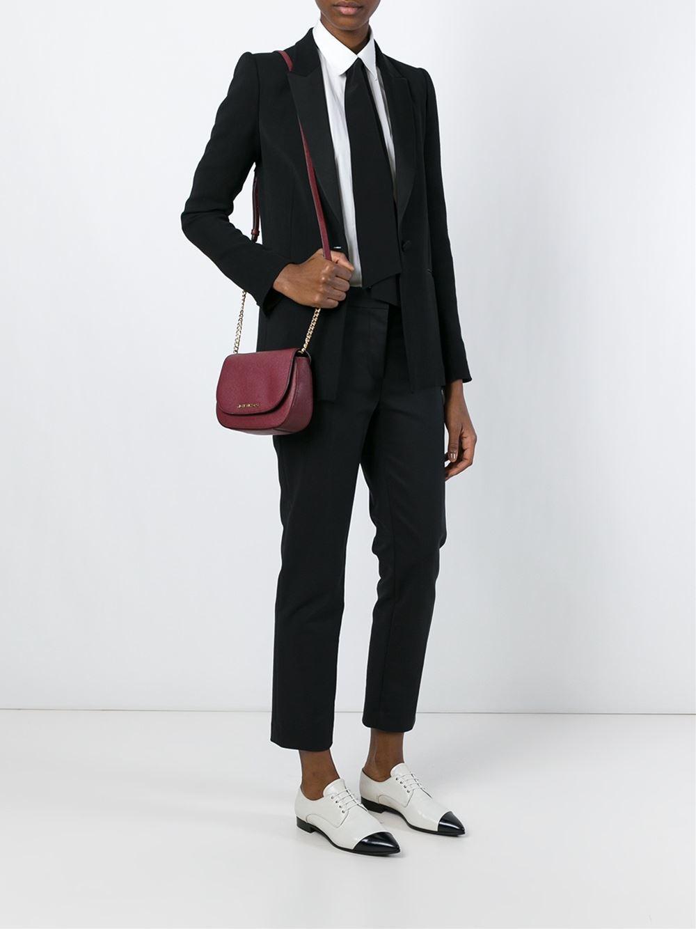 040aeadfcc871e MICHAEL Michael Kors Small 'bedford' Cross Body Bag in Pink - Lyst