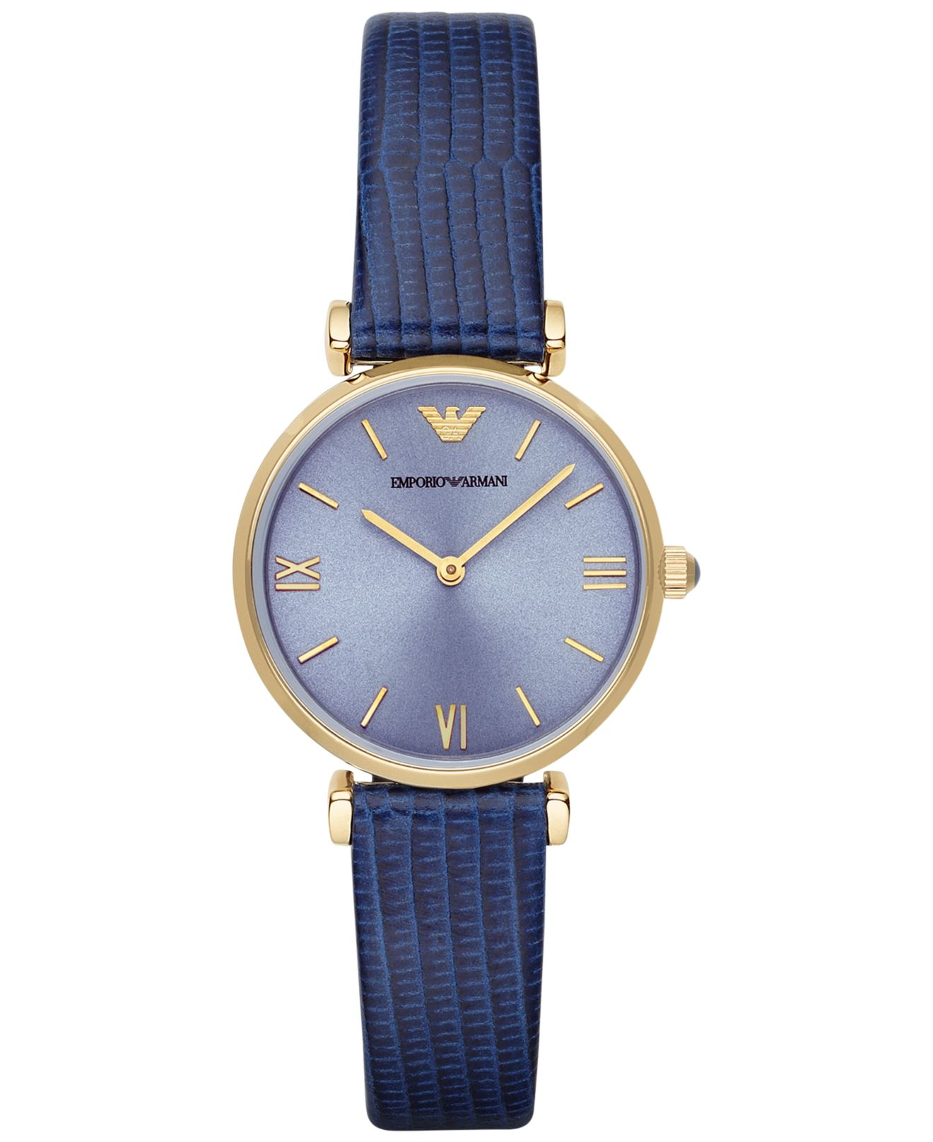 emporio armani s blue leather 32mm