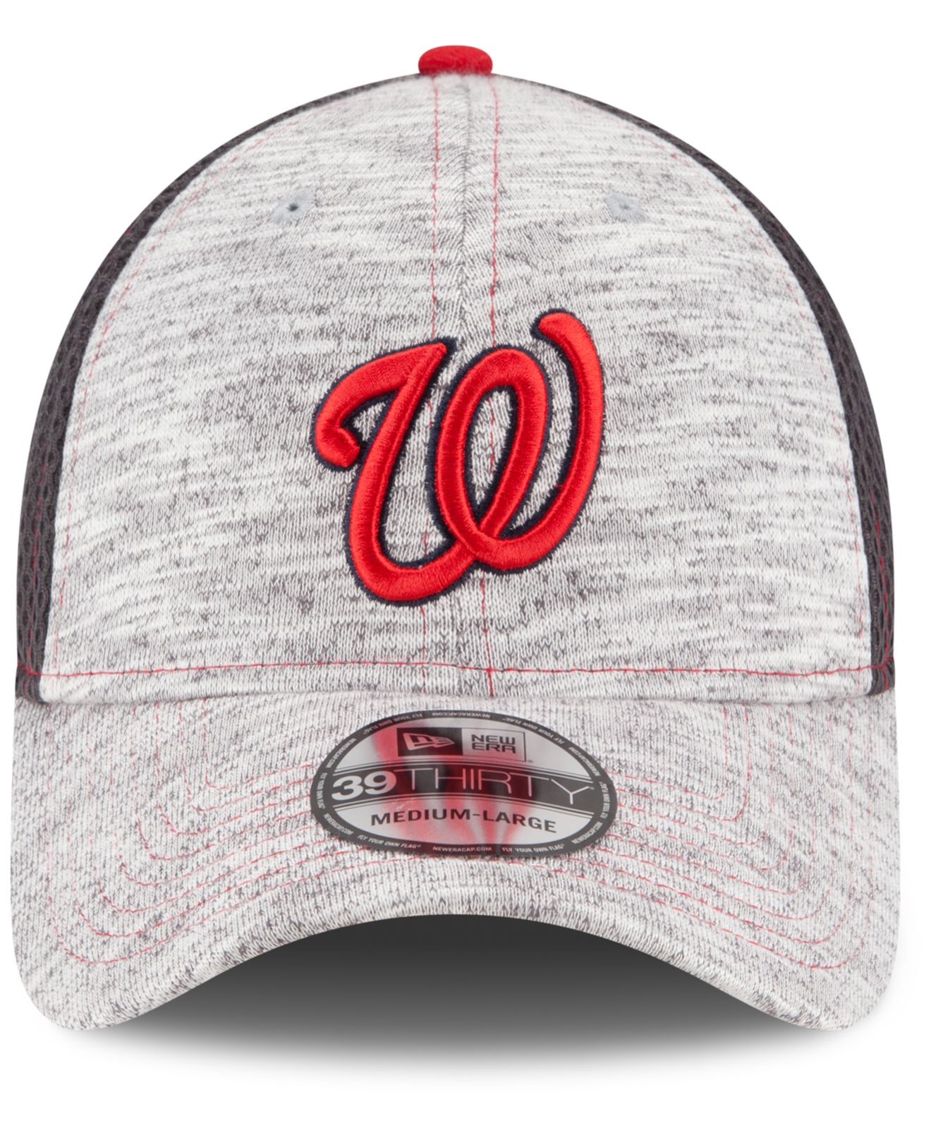 e4bc2040cdb Lyst - KTZ Washington Nationals Clubhouse 39thirty Cap in Gray for Men