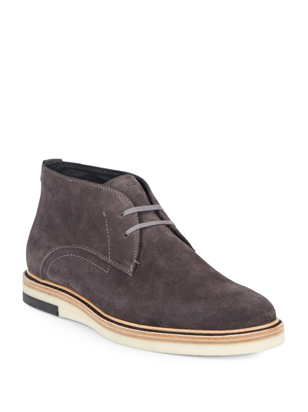 Fendi Suede Chukka Boots in Gray for Men | Lyst