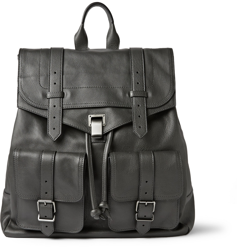 Proenza schouler PS1 Extra-Large Leather Backpack in Gray for Men ...