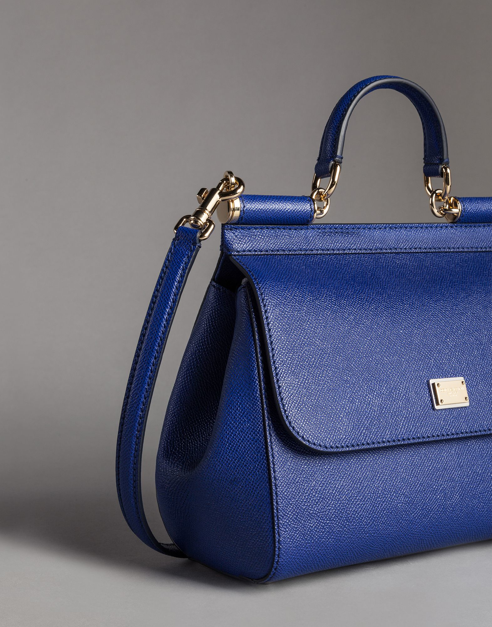 fd57dcf999 Lyst - Dolce   Gabbana Medium Dauphine Calfskin Sicily Bag in Blue