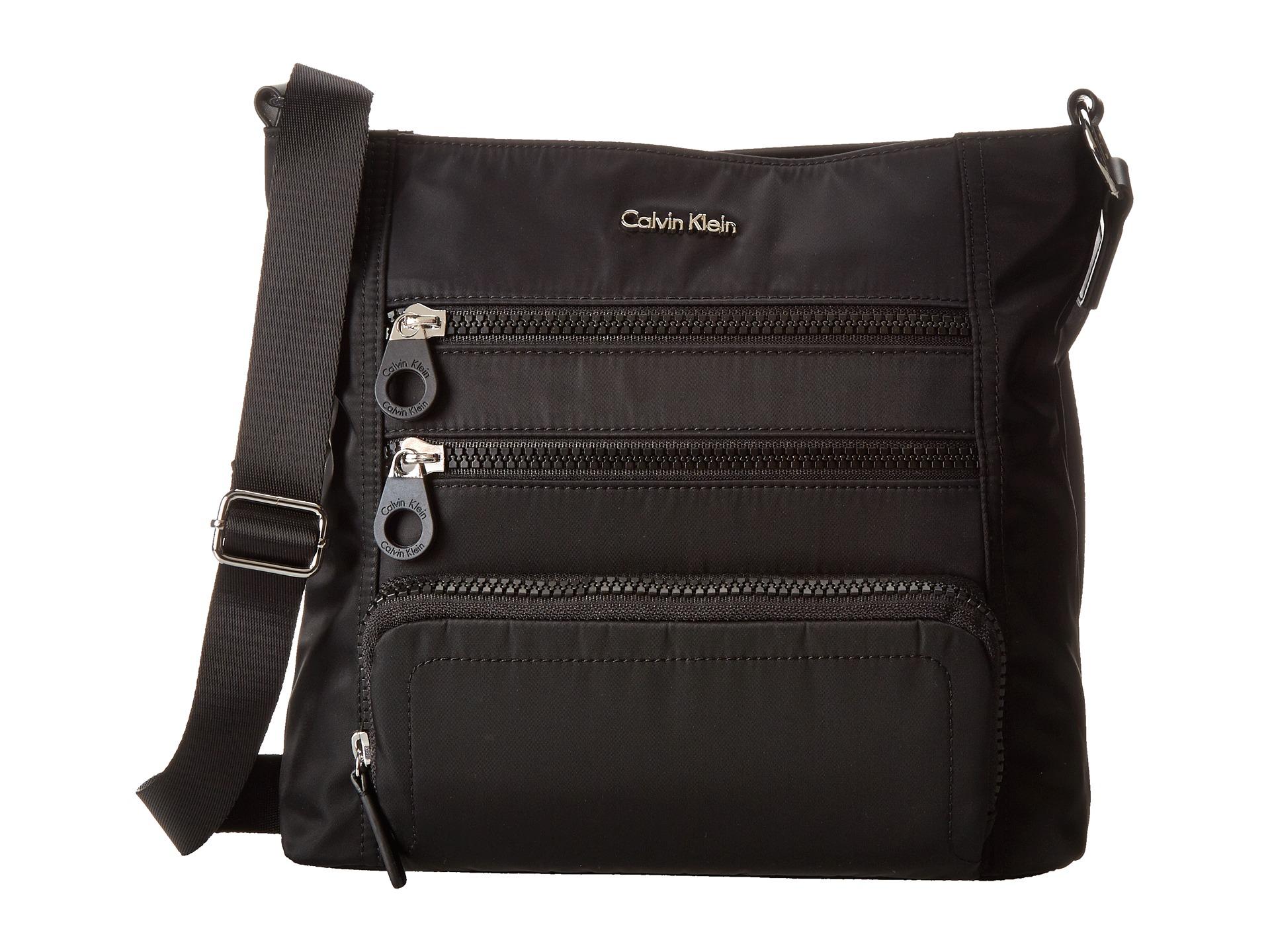 Calvin Klein Nylon Crossbody In Black | Lyst