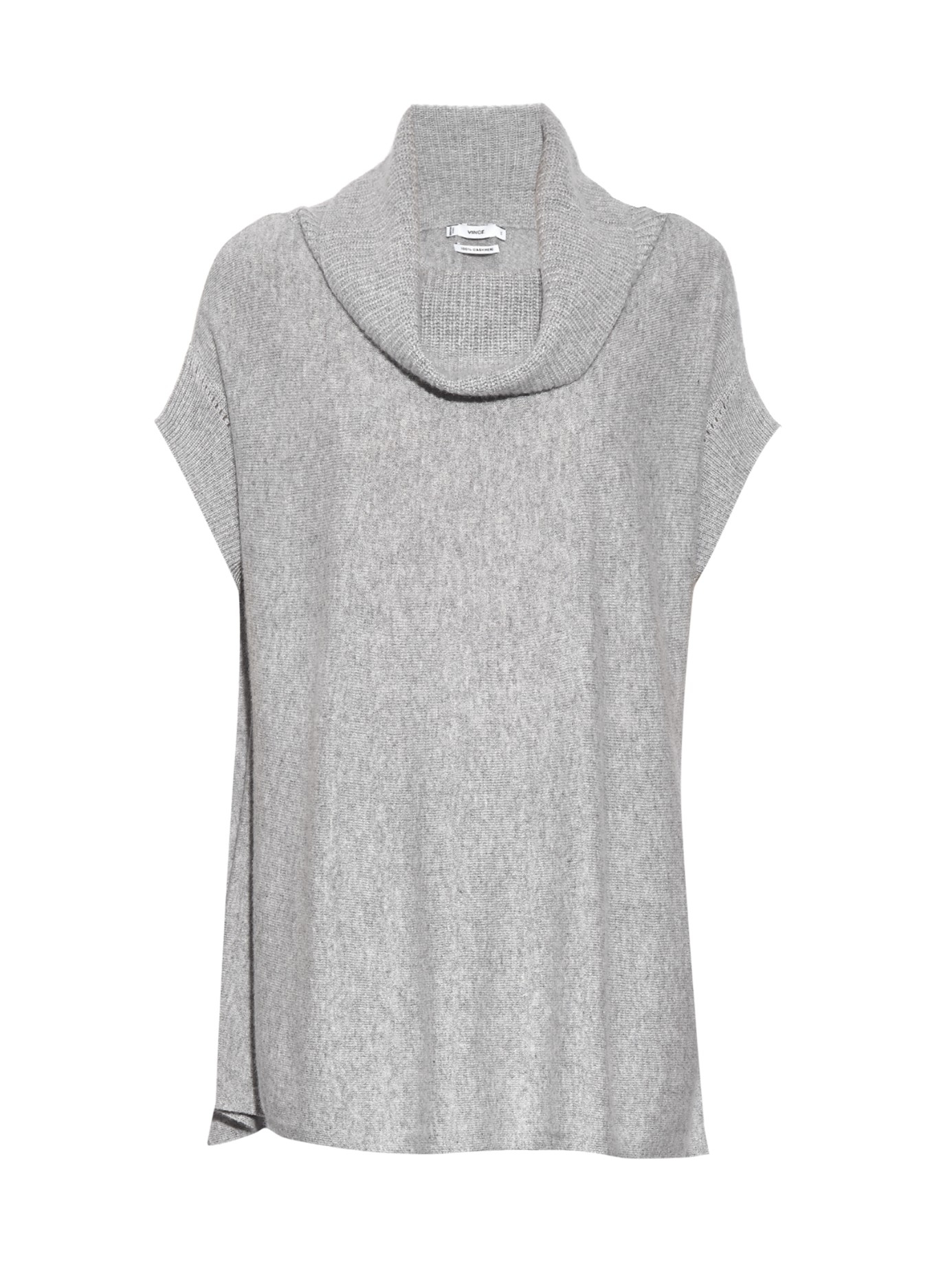 Vince Sleeveless Cashmere-knit Sweater in Gray | Lyst