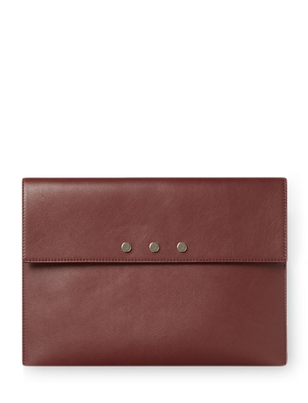 Lyst Joseph Nappa Leather Envelope Clutch Bag In Purple