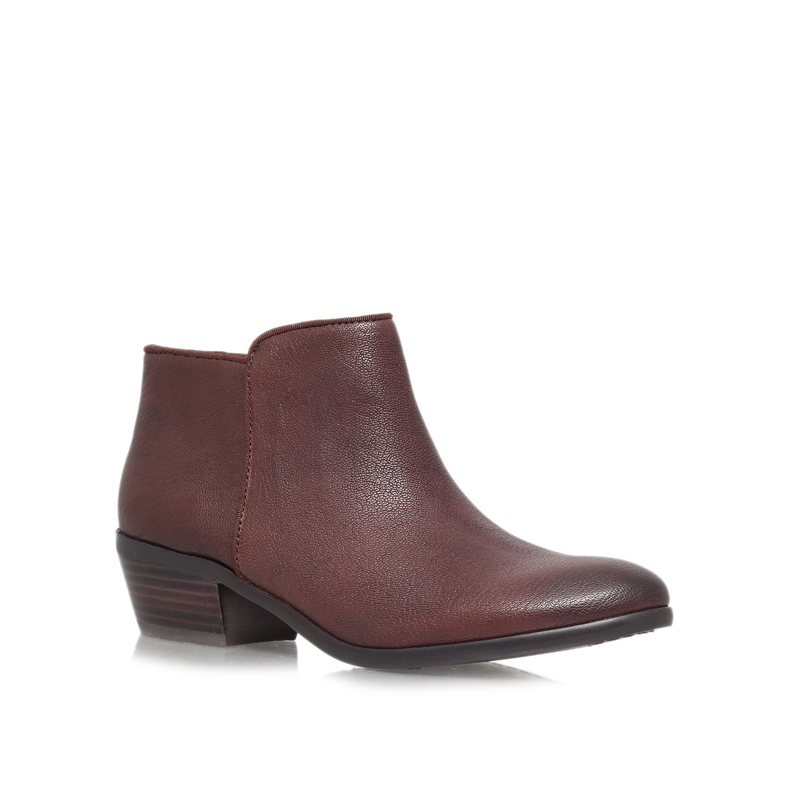 sam edelman petty ankle boots in brown lyst