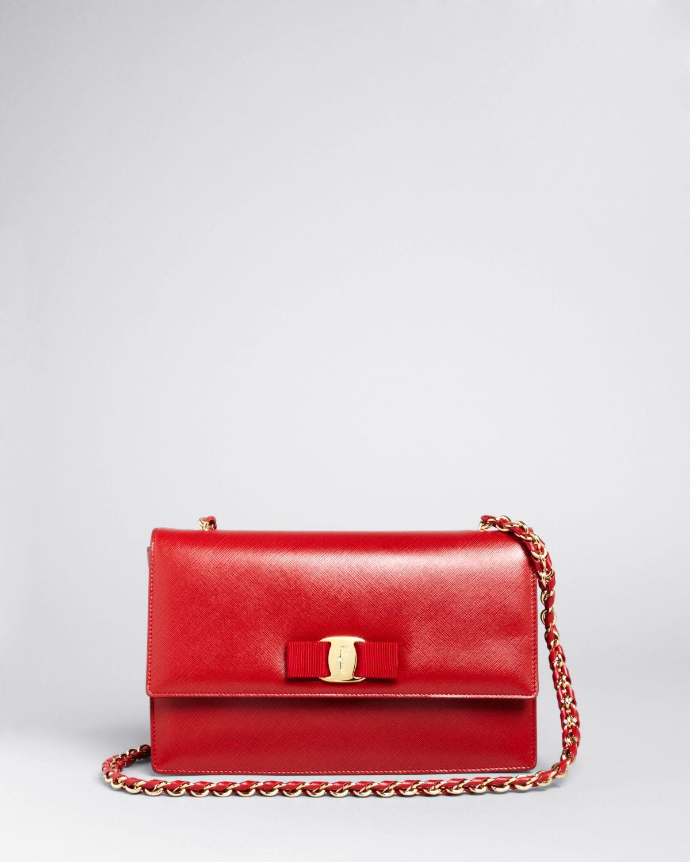 Lyst - Ferragamo Shoulder Bag - Ginny in Red 96b4987411948
