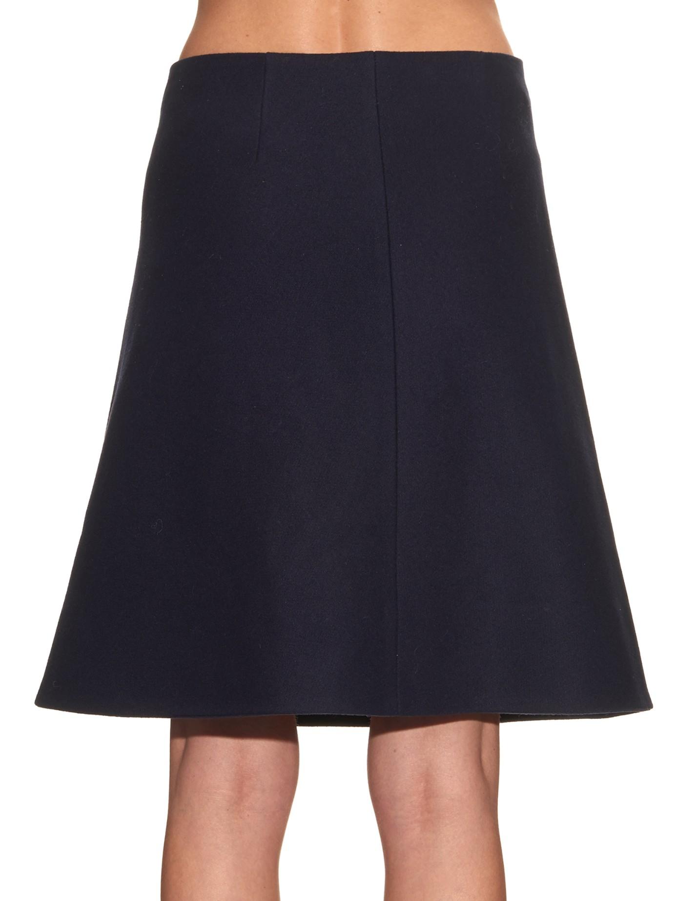 Navy Blue A Line Skirt
