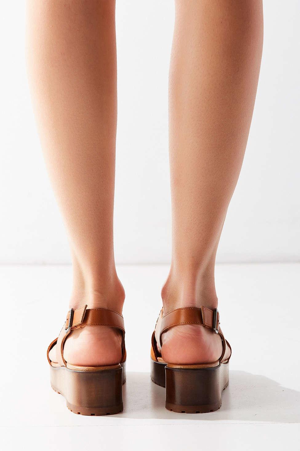 5bb3addfaf41 Lyst - Kelsi Dagger Brooklyn Danielle Wood Slingback Sandal in Brown