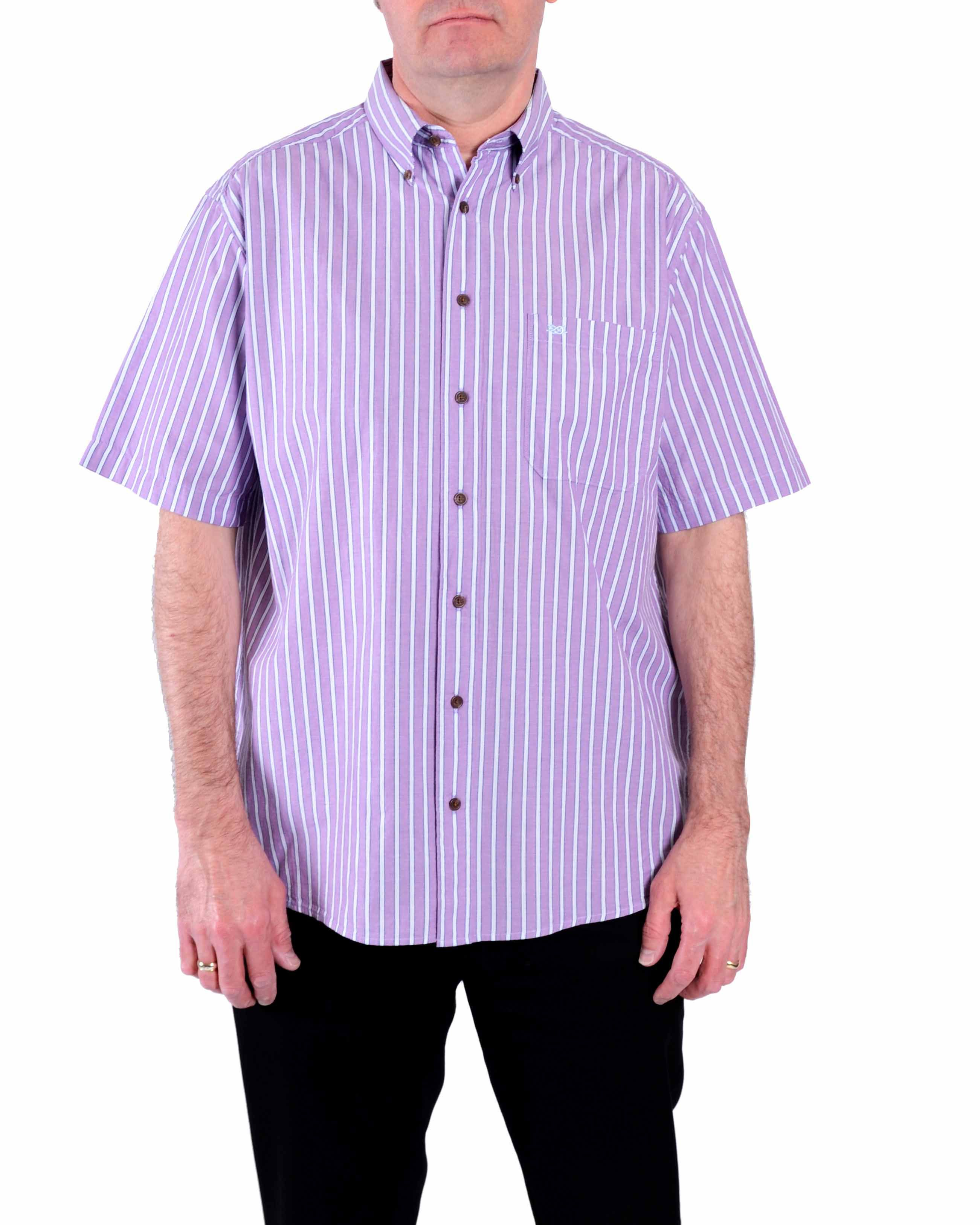 Lyst double two stripe classic fit button down shirt in for Preppy button down shirts