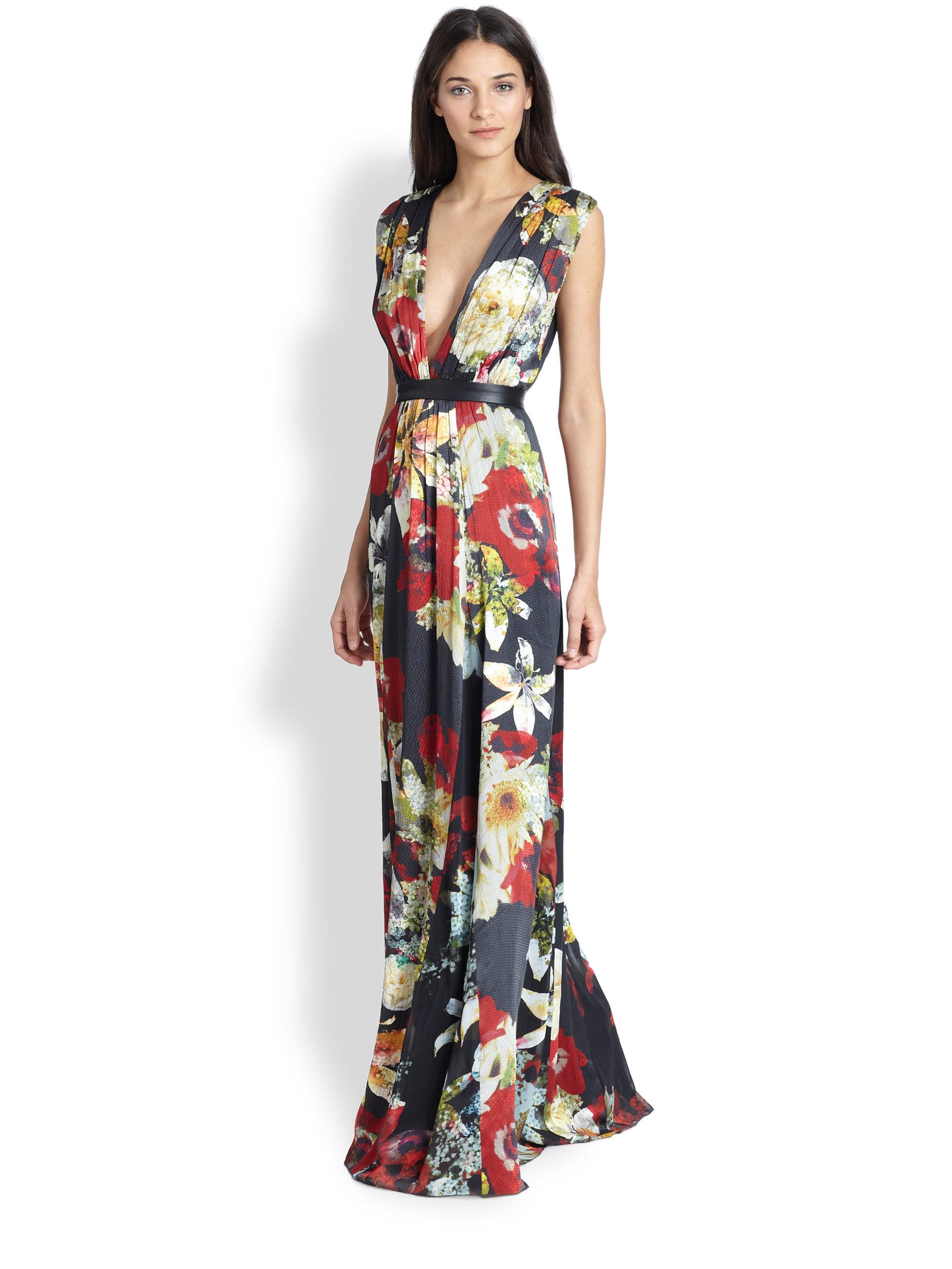 Lyst - Alice + Olivia Triss Floralprint Sleeveless Maxi Dress Alice ...