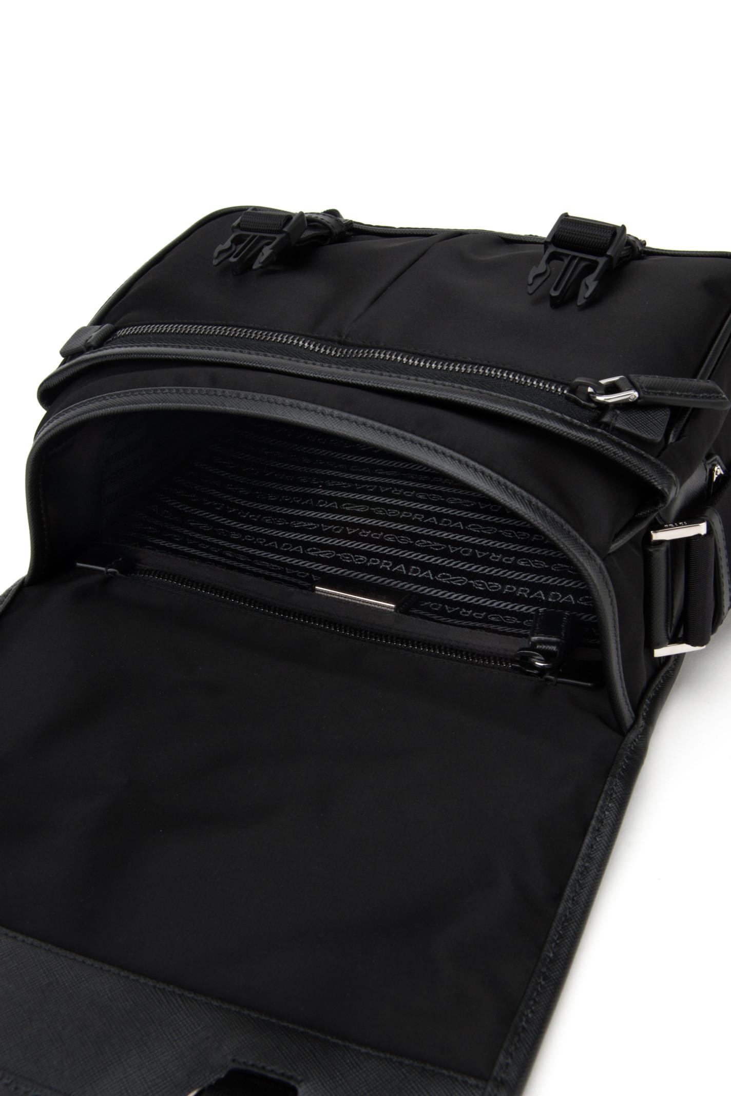 Prada Borsa Viaggio Tessuto+saffiano in Black for Men (NERO)   Lyst