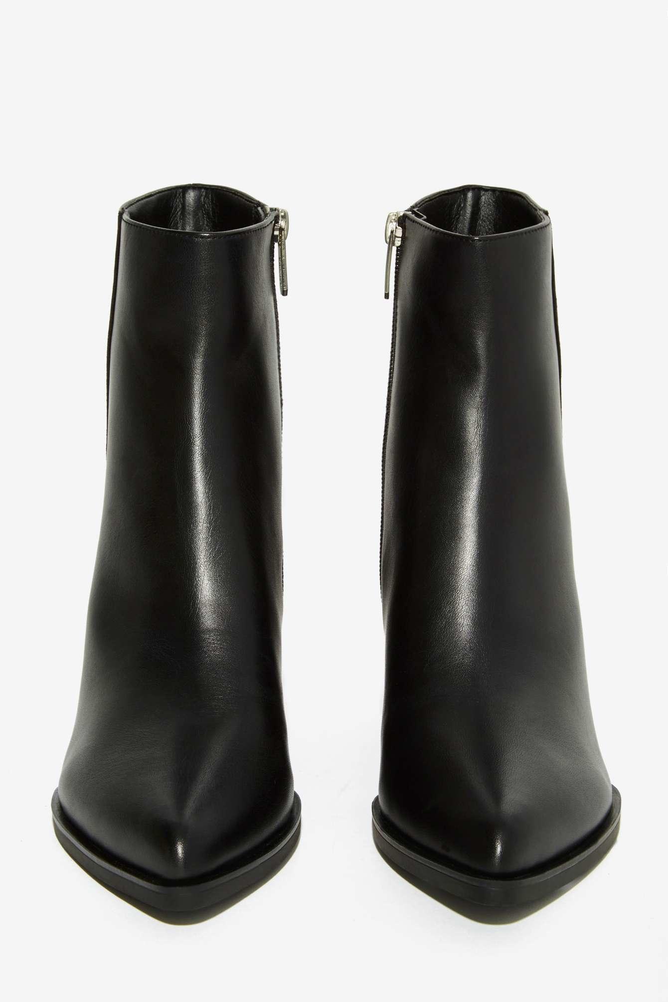 735ae3db2b4469 Lyst - Circus by Sam Edelman Rae Leather Boot in Black