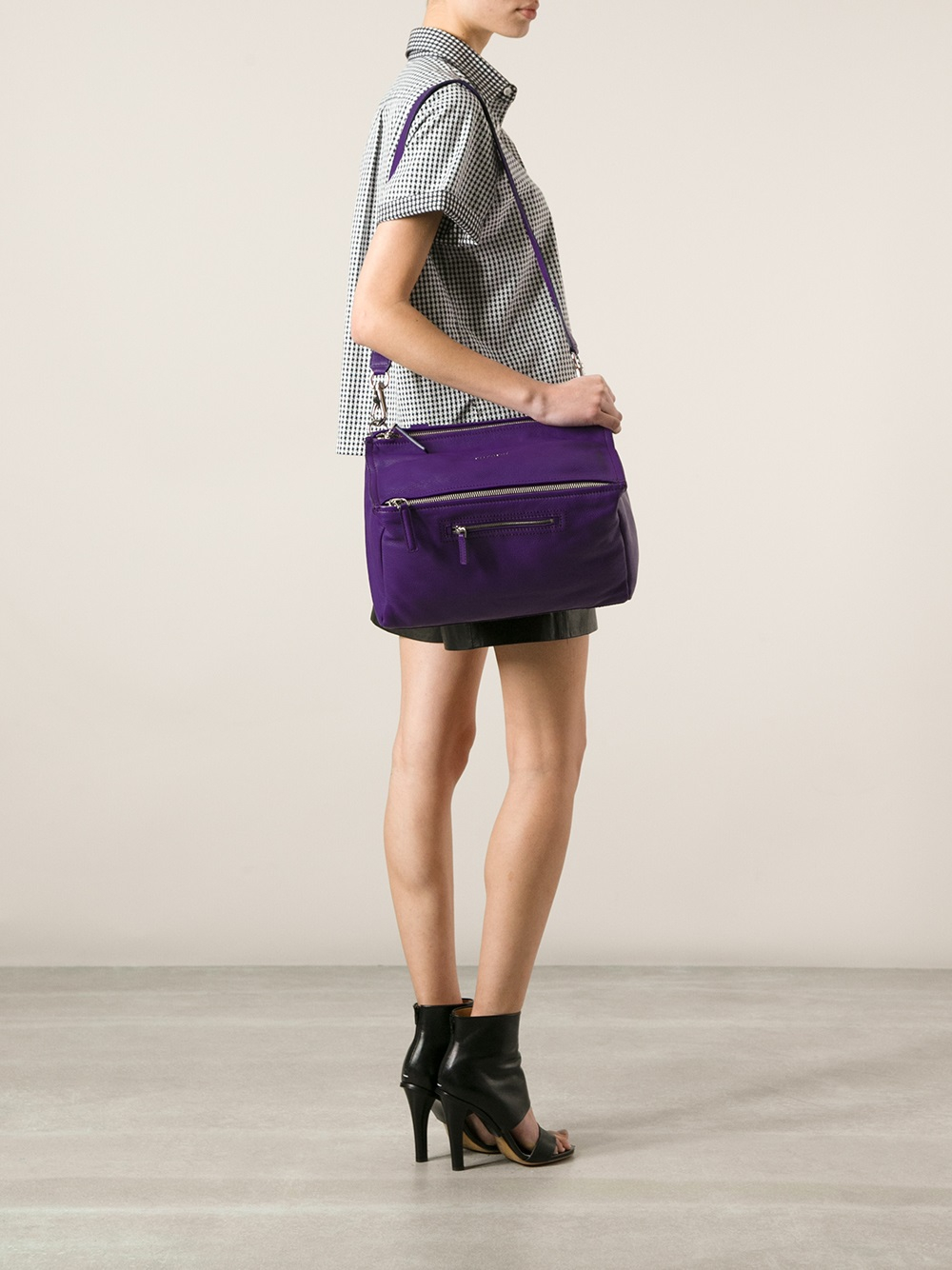 Lyst Givenchy Pandora Large Bag In Purple