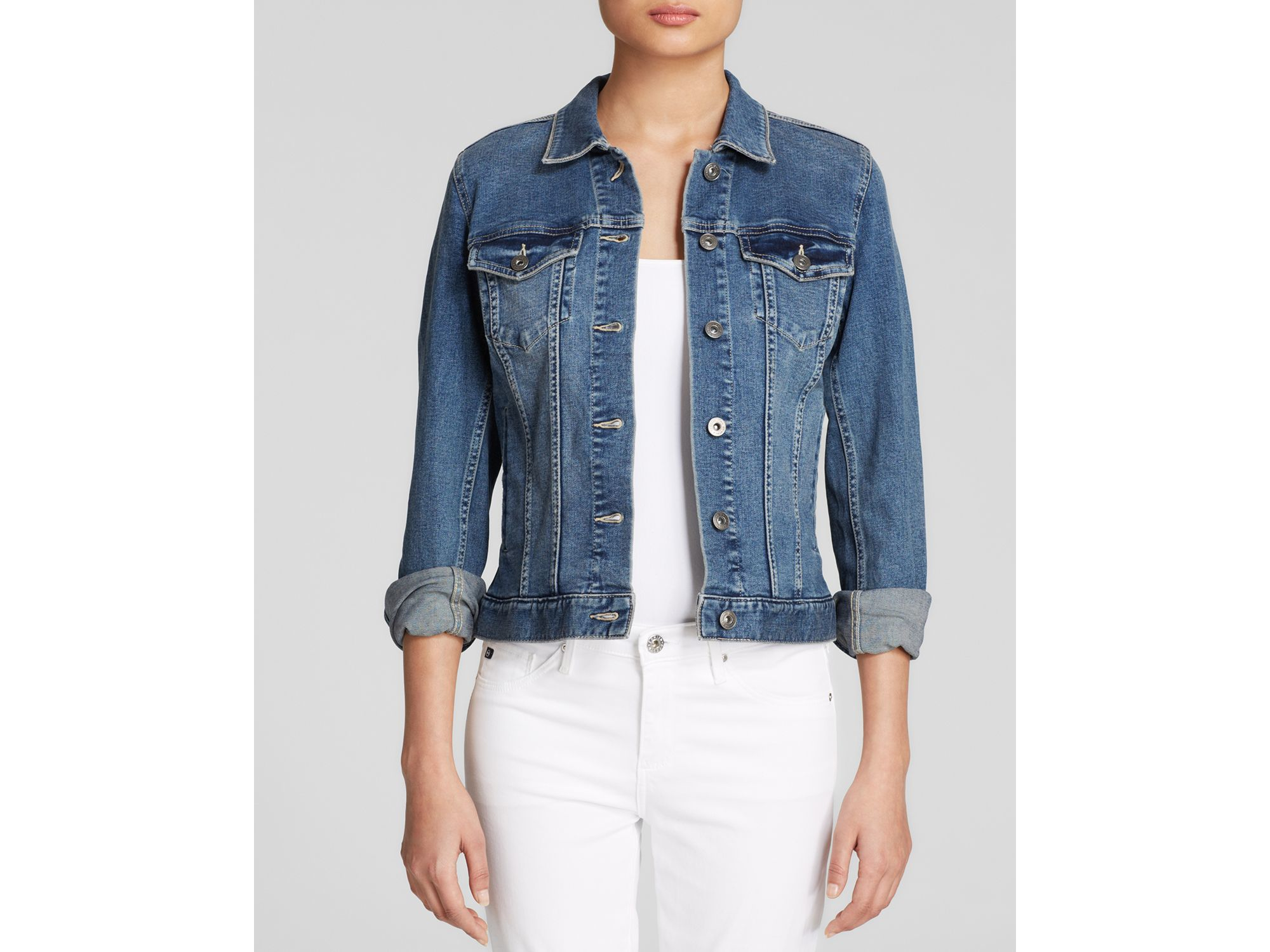 16033d72ee Lyst - Vince Camuto Two By Jean Jacket in Blue