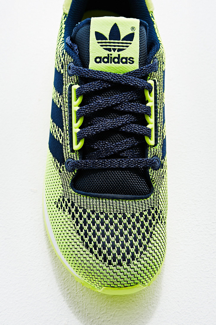 the latest f2c89 b0295 adidas Zx 500 Weave Runner Trainers in Lime Green in Blue -