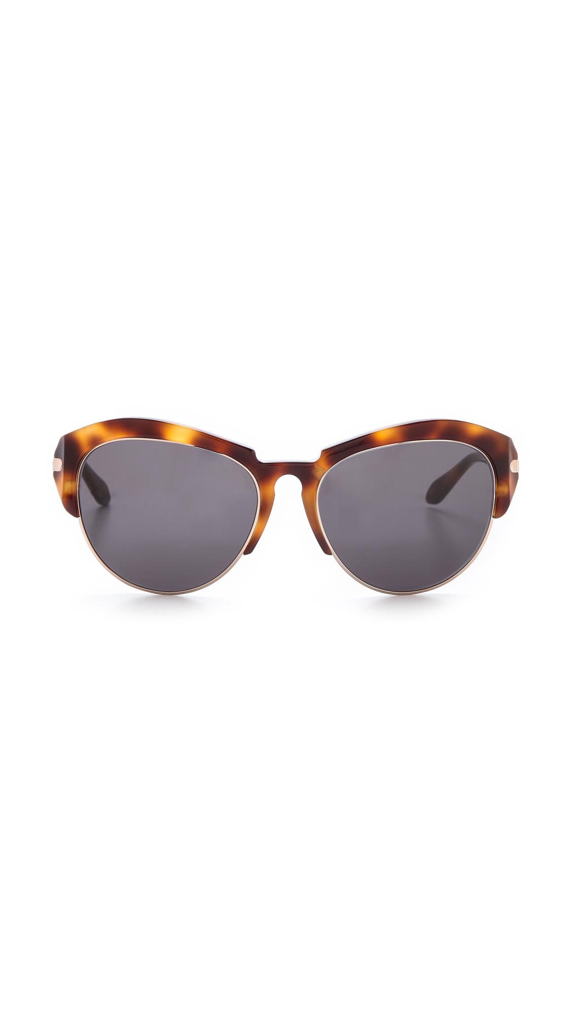 Givenchy Rimless Bottom Sunglasses Dark Havanasmoke in ...