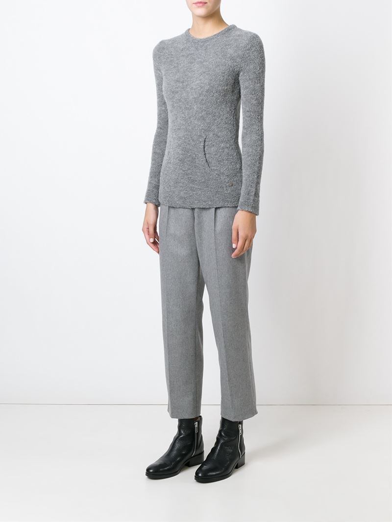 Woolrich Kangaroo Pocket Sweater in Gray Lyst