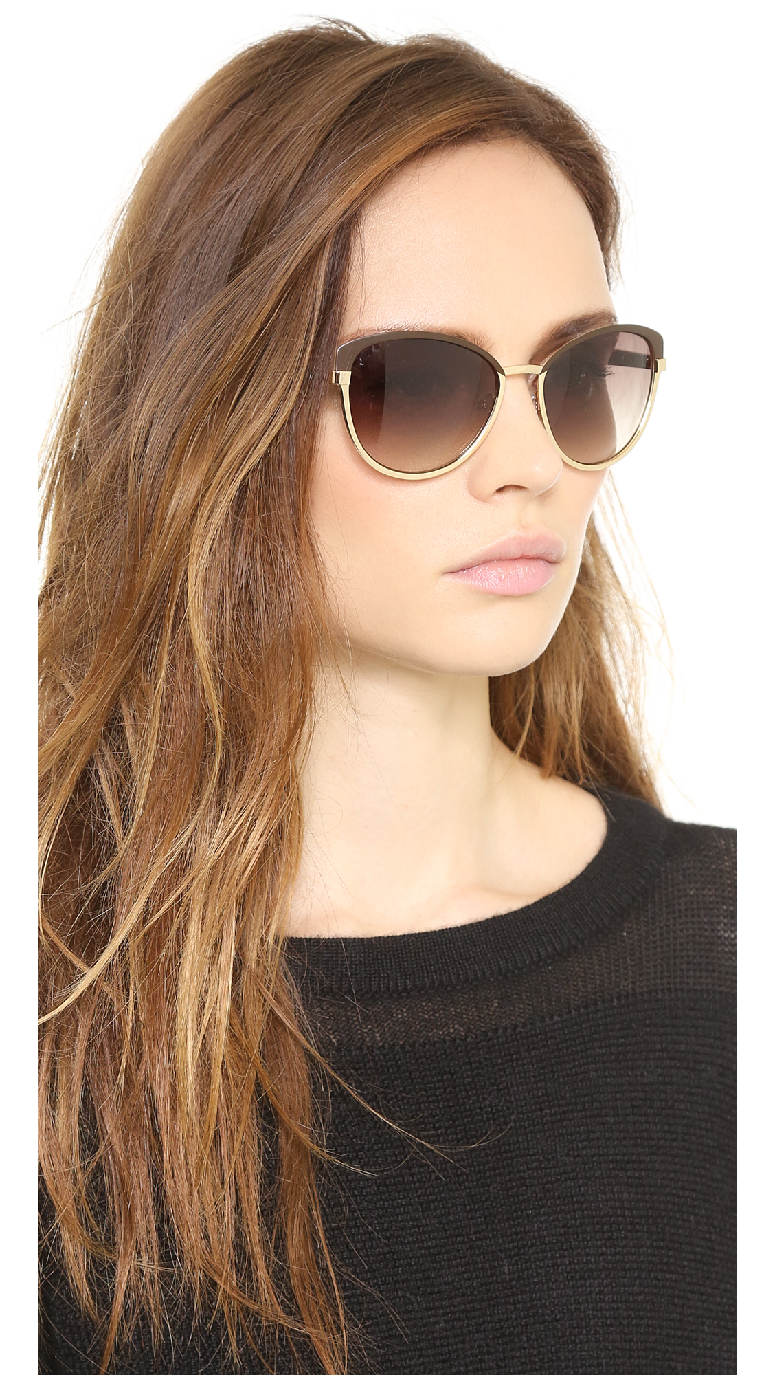 2b75c80f44 Marc by marc jacobs Two Tone Cat Eye Sunglasses - Gold brown Gradient in  Brown