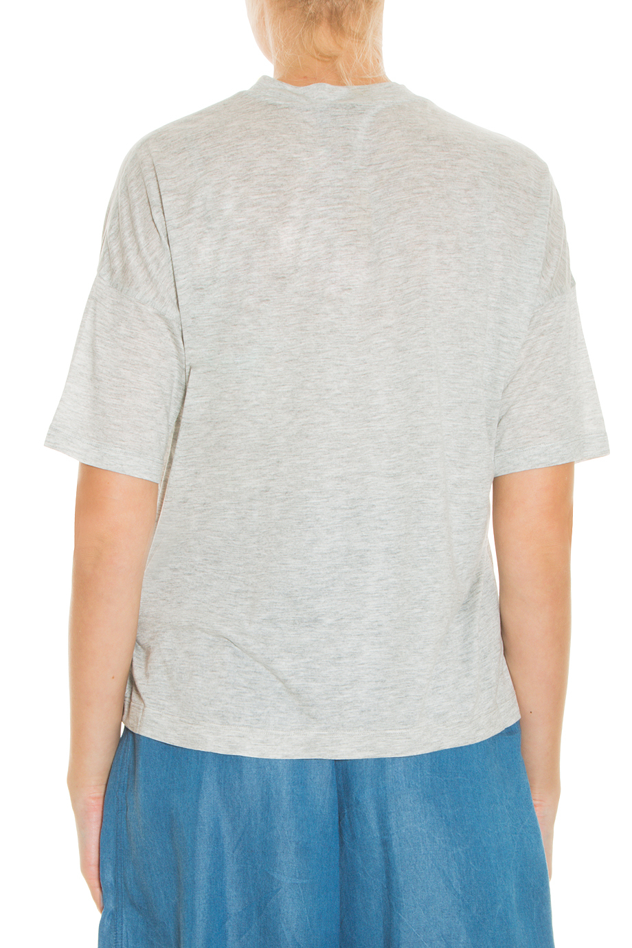 T by alexander wang jersey t shirt in gray lyst for T by alexander wang t shirt