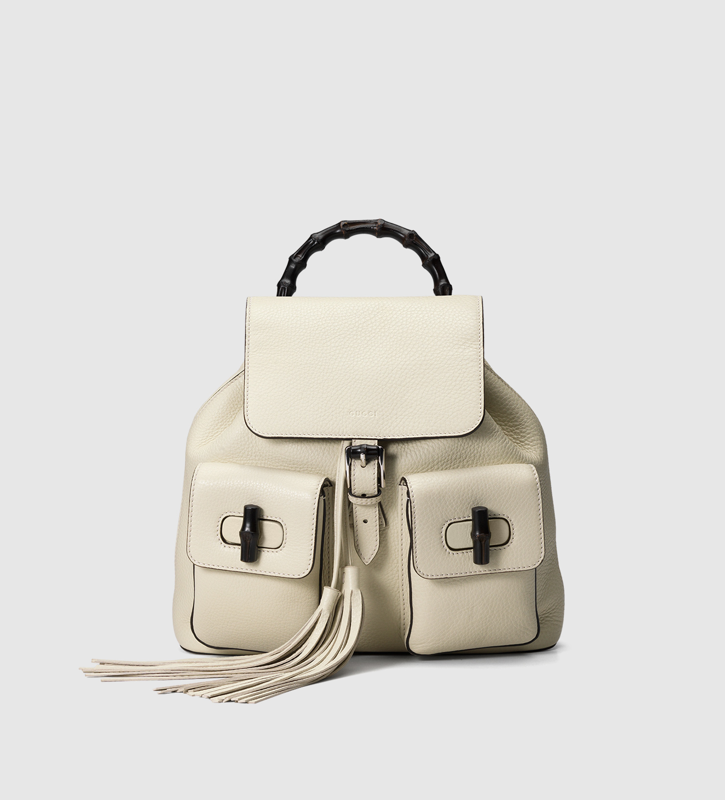 4da4fcf80 Gucci Bamboo Leather Backpack in Natural - Lyst