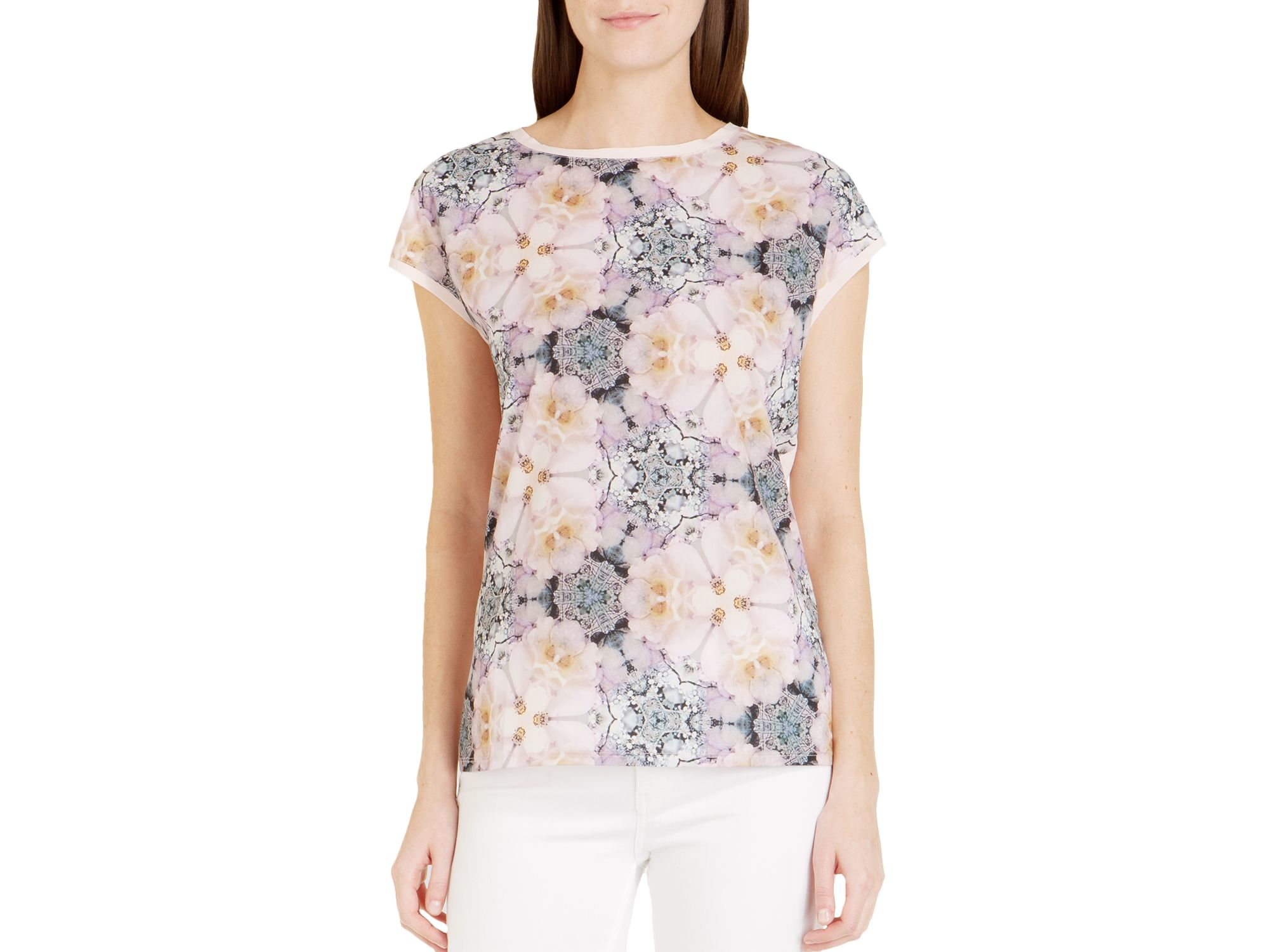 6e09ab01d6f761 Lyst - Ted Baker Lisica Geo Floral Tee in Pink