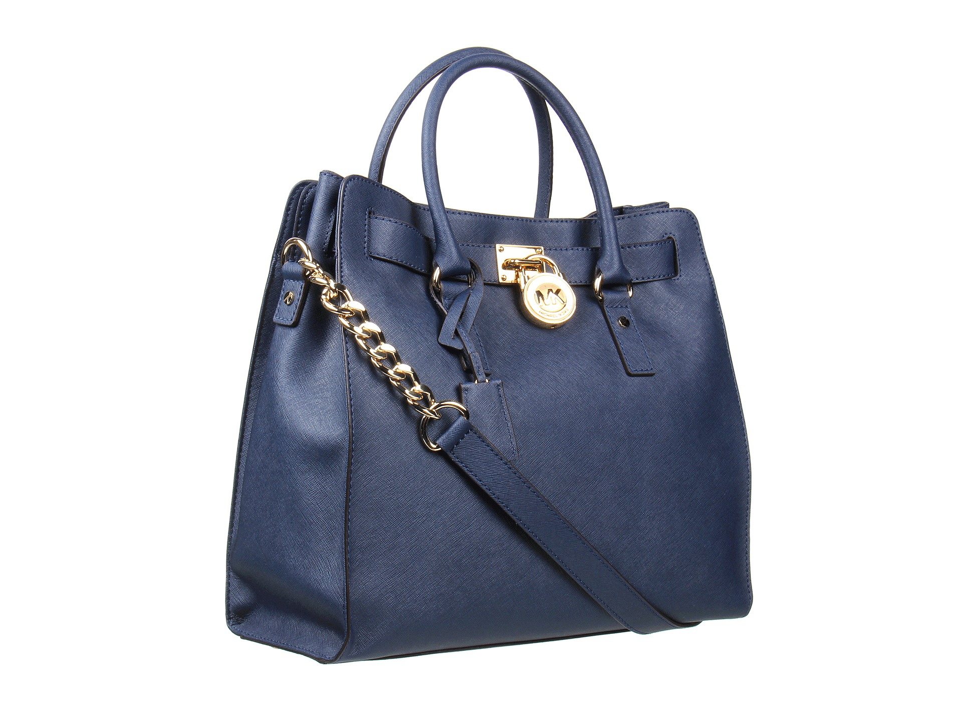 7c7bc0b2363ab Lyst - MICHAEL Michael Kors Hamilton Large North south Tote in Blue