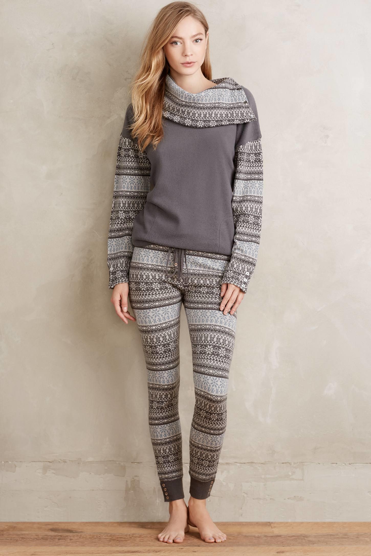Saturday/sunday Fairisle Sweater Leggings in Gray | Lyst