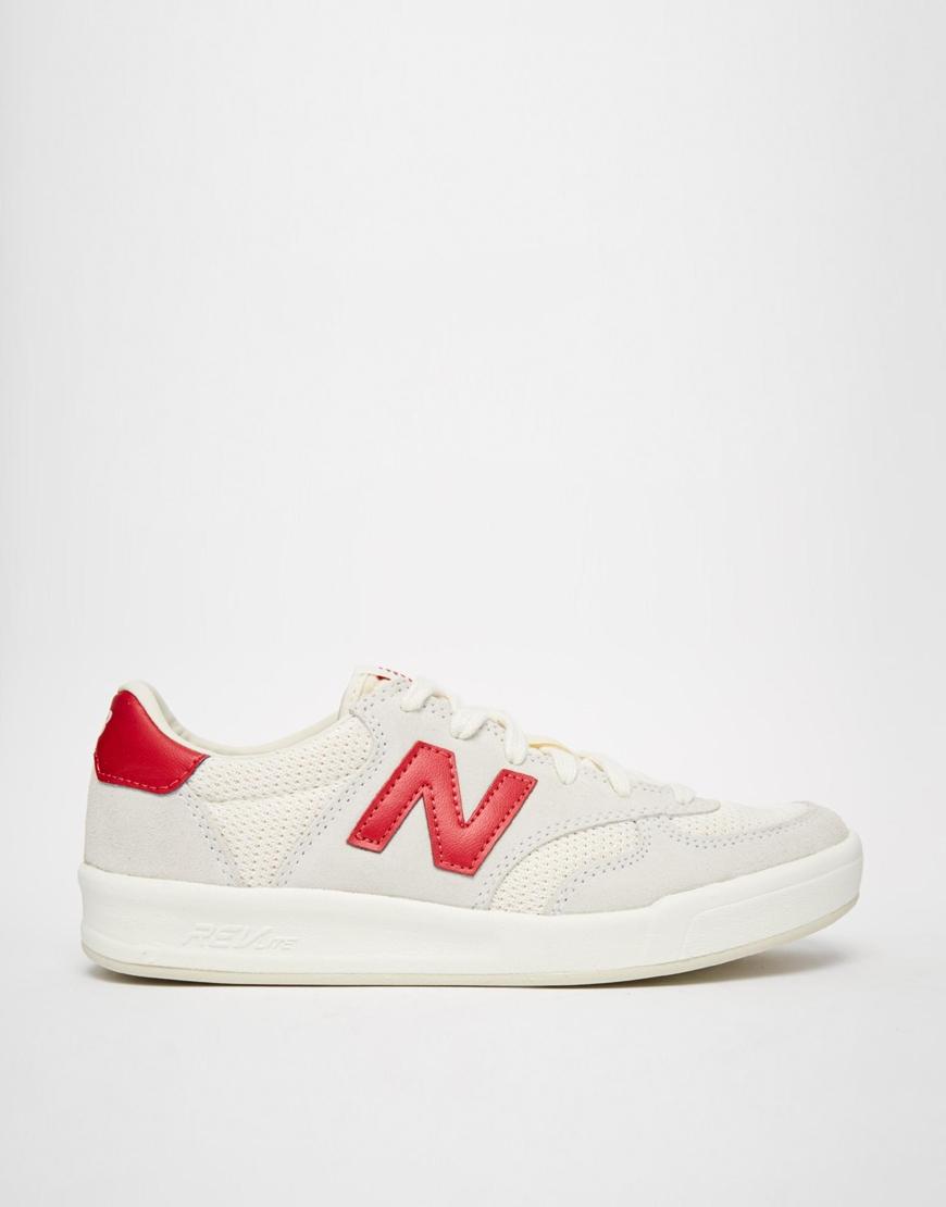new balance 300 red white