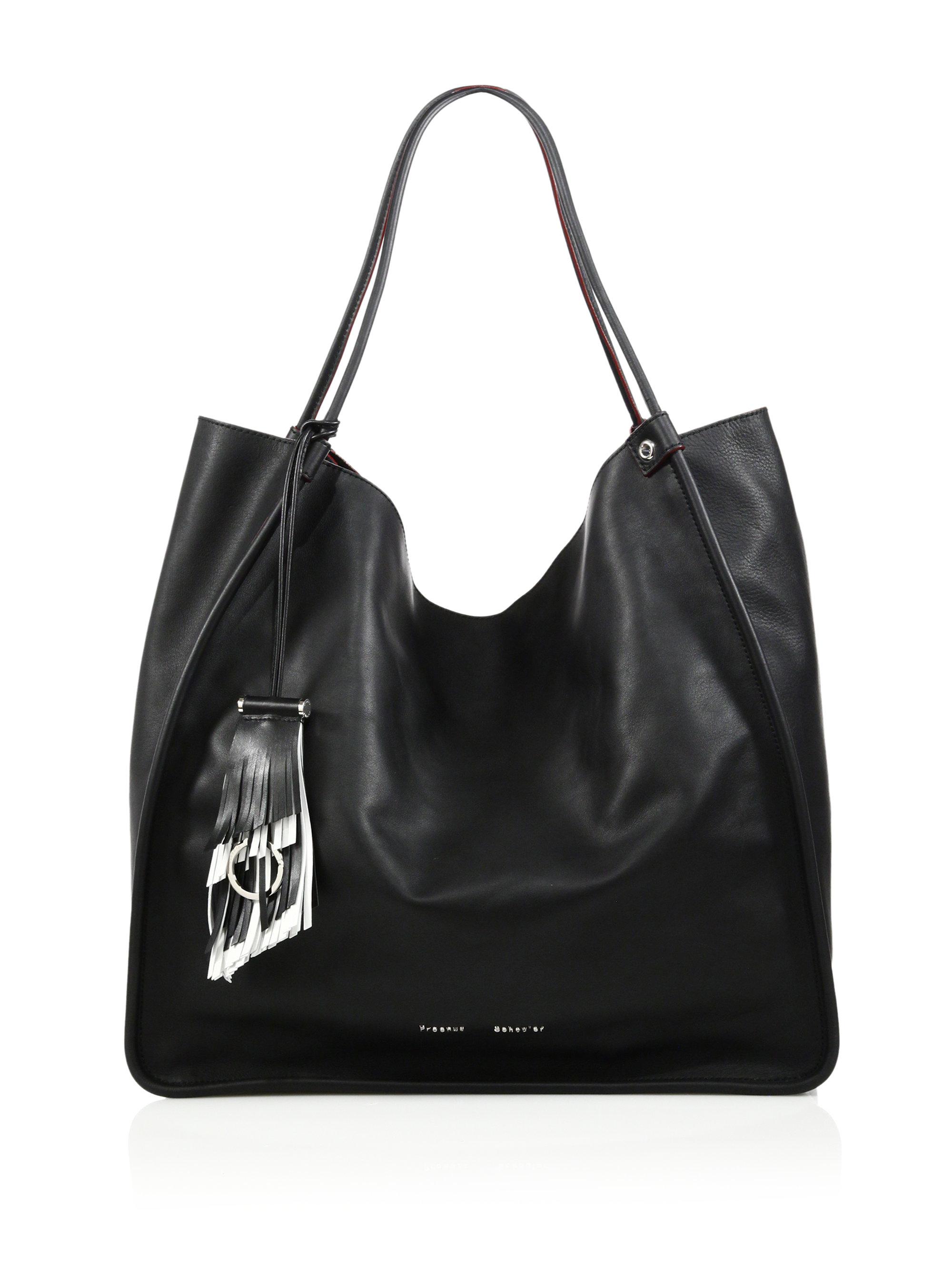 f4cdd461a445 Lyst - Proenza Schouler Large Soft Calf Leather Tote in Black