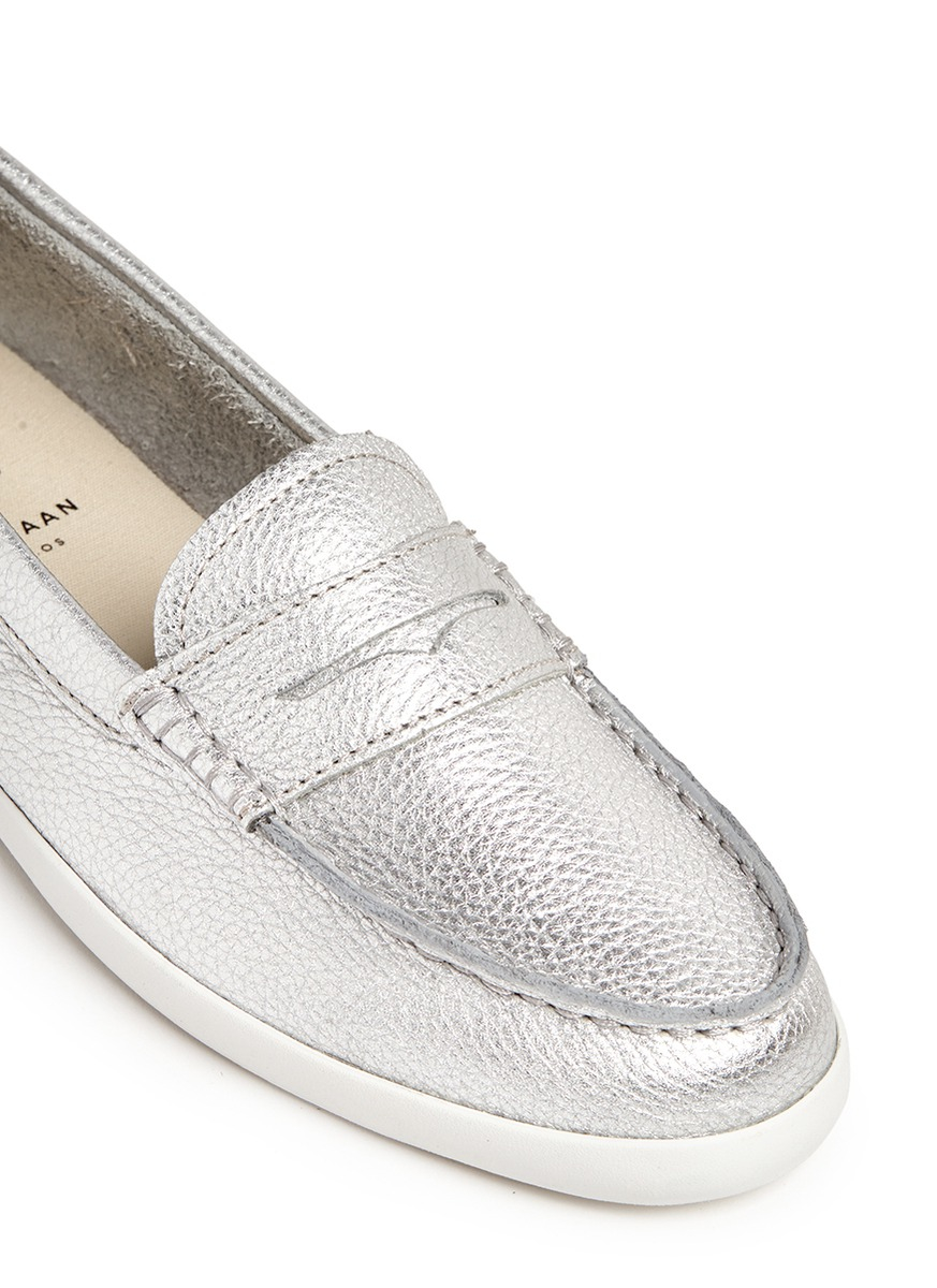 Cole Haan Pinch Weekender Metallic Cotton Penny Loafers Kygadg