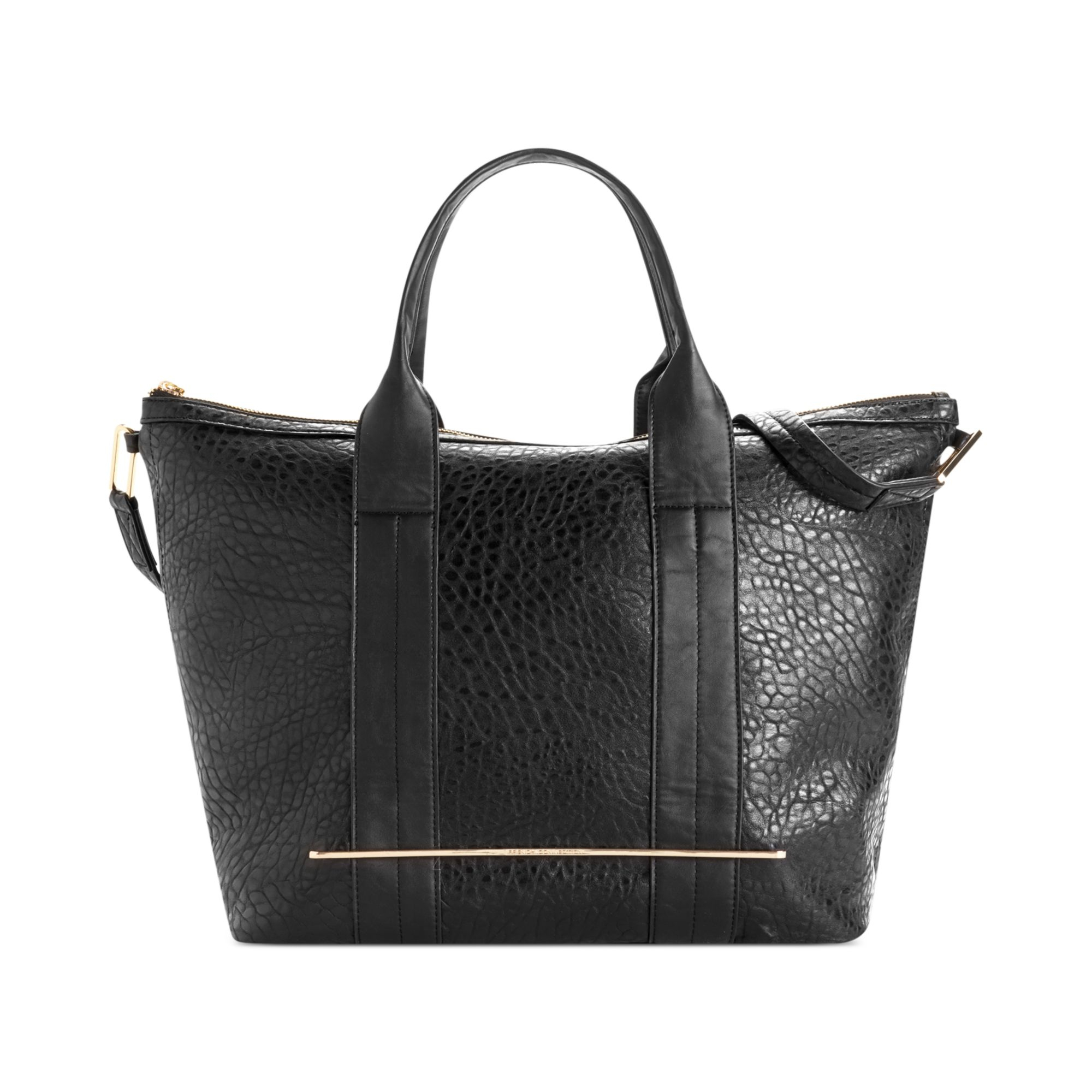 French Connection Fast Track Dome Tote in Black | Lyst