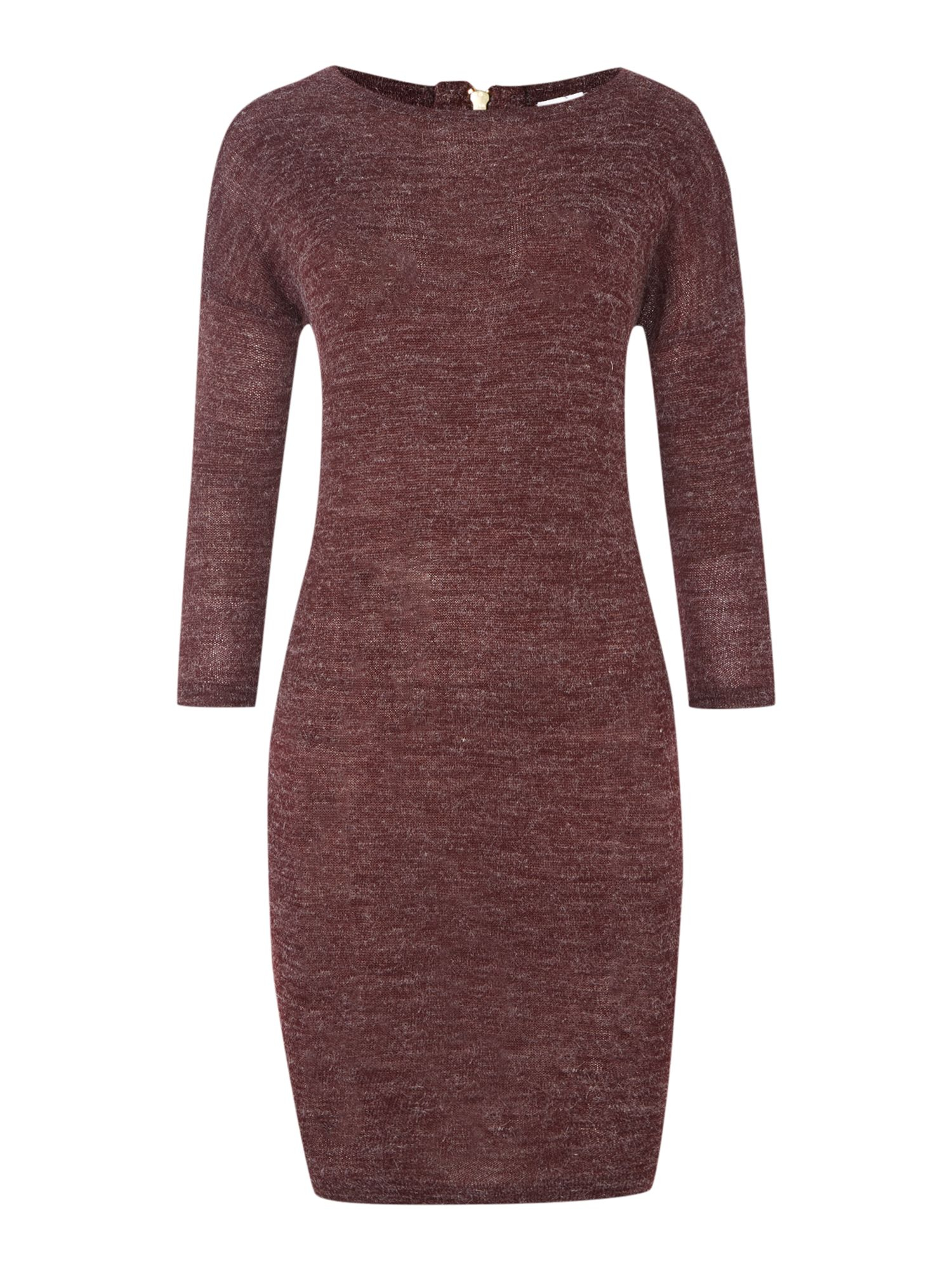 Vero Moda Knitting Yarns : Vero moda zip back knit dress in purple lyst