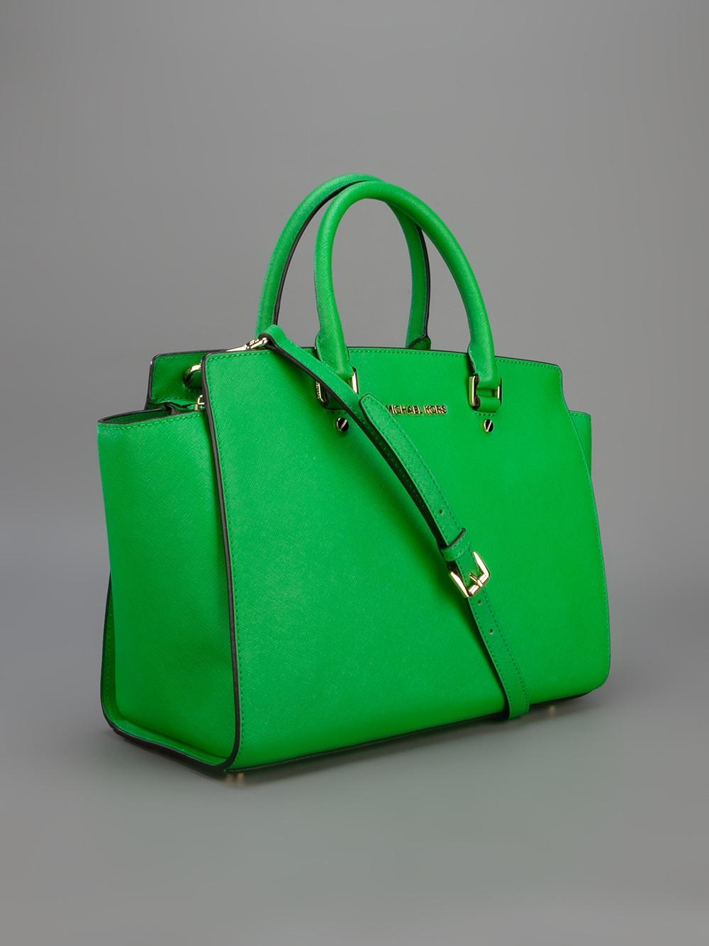 acaad5139dc9 ... australia lyst michael kors selma shopper tote in green b99cd 4c07a