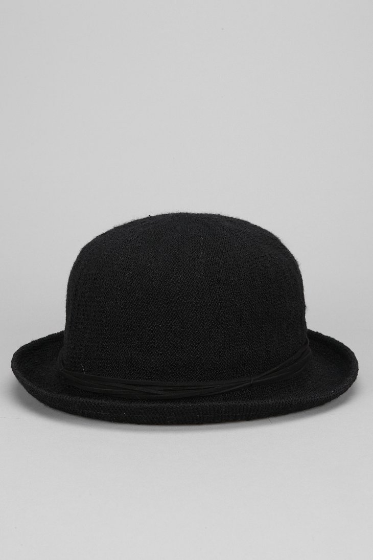 93982901b49 Lyst - Urban Outfitters Woven Cotton Bowler Hat in Black for Men