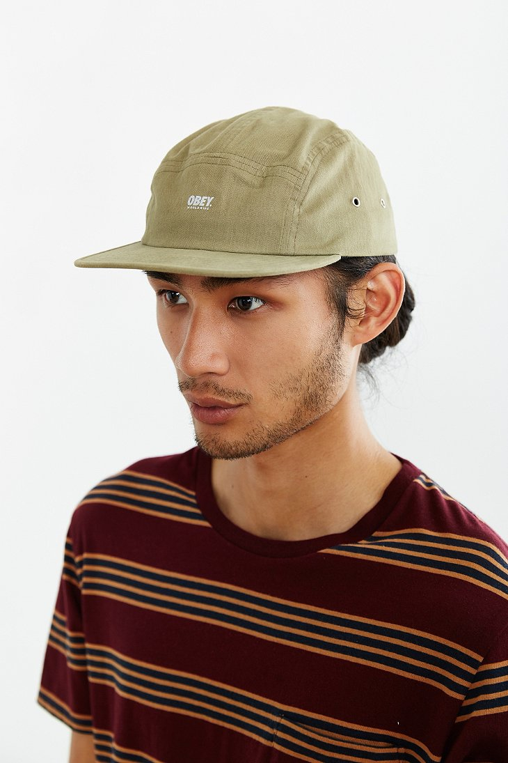 9ba909e252deb Obey Comstock 5-panel Hat in Green for Men - Lyst
