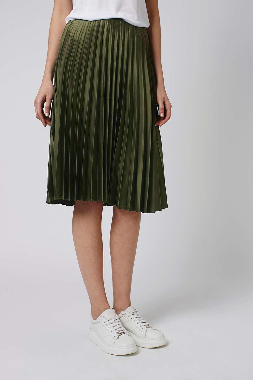 Pleated Khaki Skirt - Dress Ala