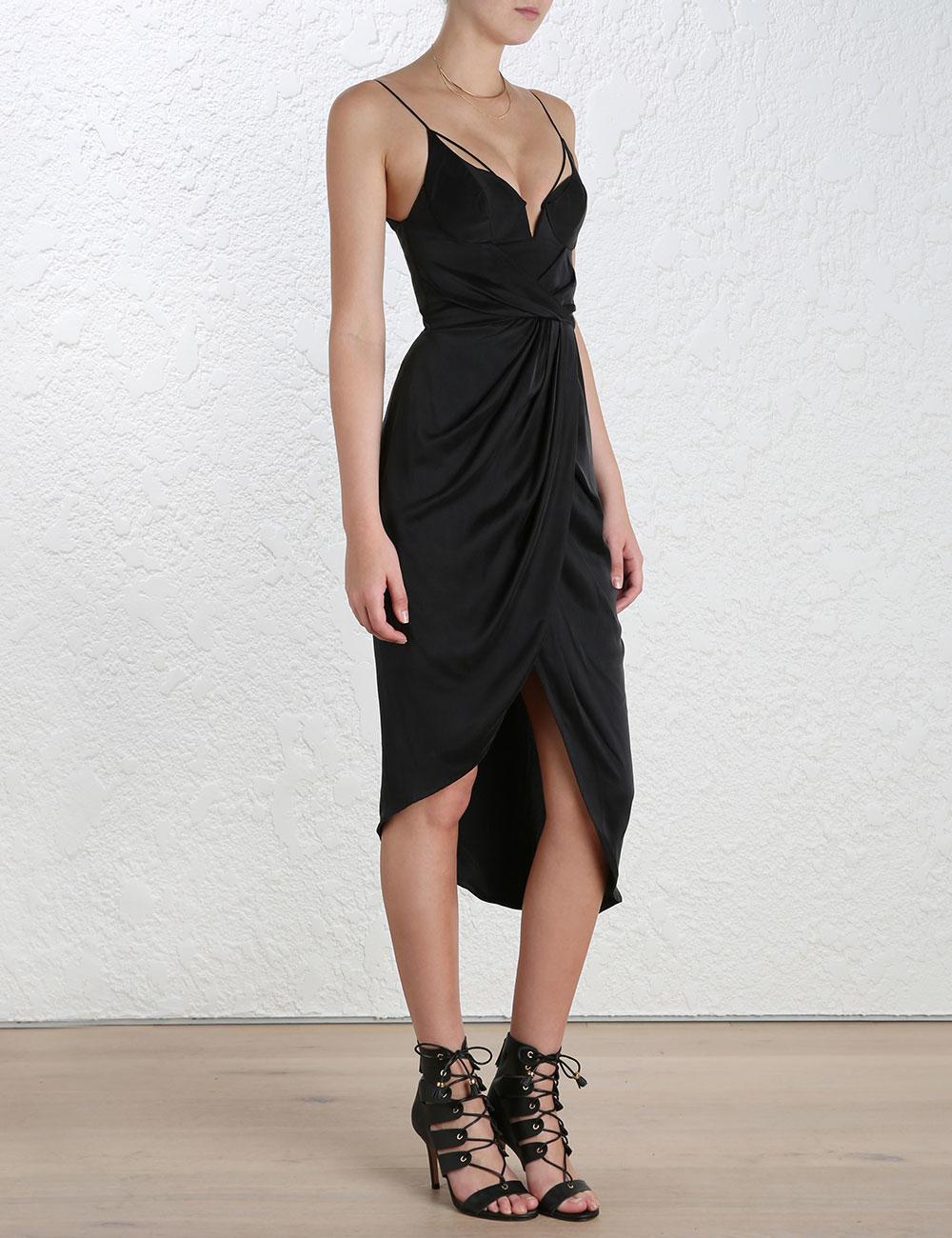 Silk v long dress zimmermann brake