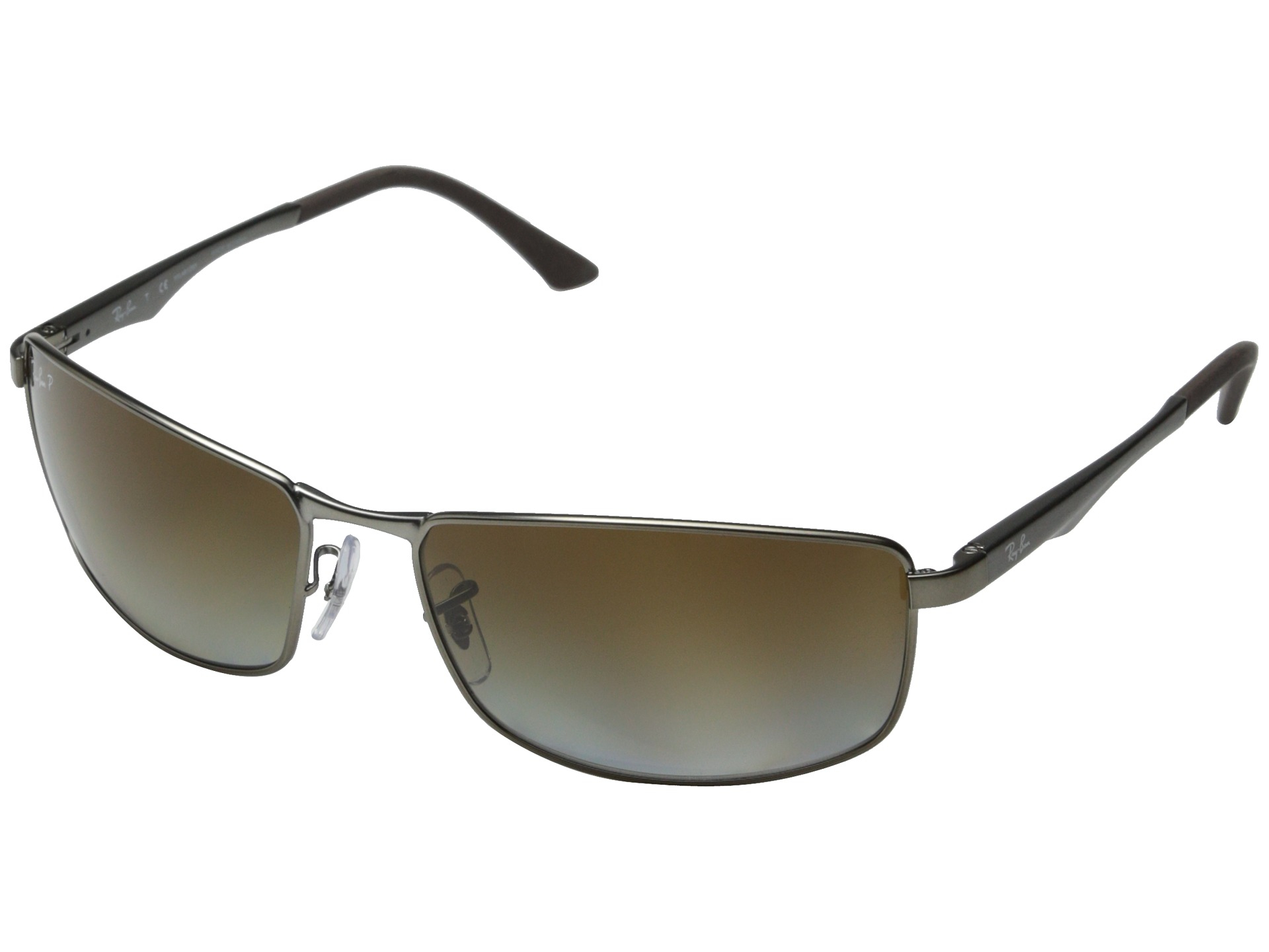 fdb7a6ed46 Ray-ban Rb3498 Polarized 64Mm in Silver for Men (Matte Gunmetal Grey  Gradient