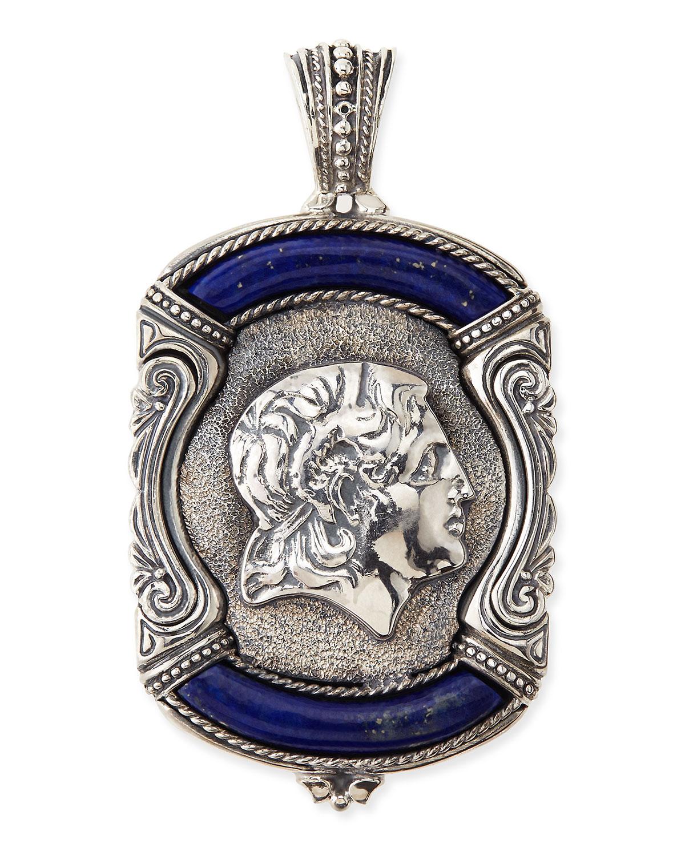 Lyst konstantino mens sterling silver lapis greek pendant in gallery aloadofball Images