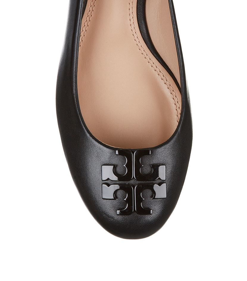 a4eb33741de2cd ... clearance tory burch lowell 2 leather ballet flats in black lyst 19dd8  d124c