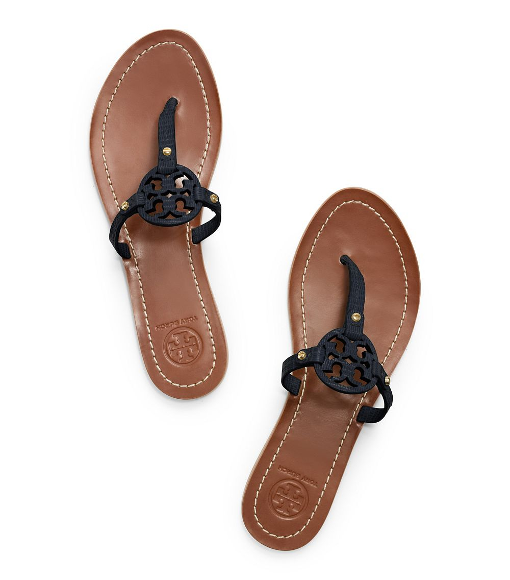 e3f03d9f1 Lyst - Tory Burch Mini Miller Flat Thong Sandal in Blue