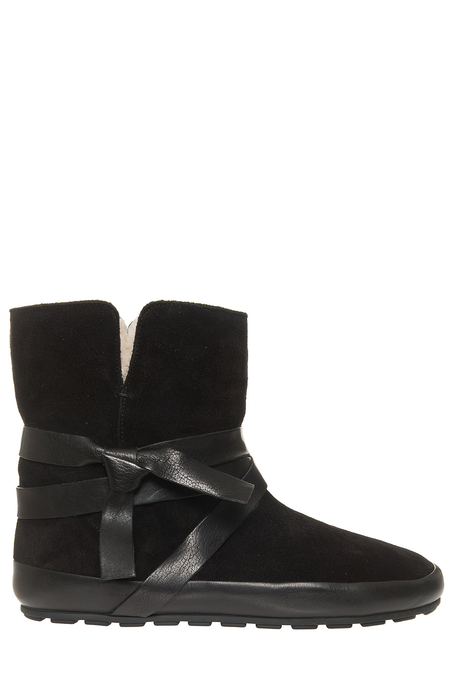 toile isabel marant nigel shearling boots in black lyst. Black Bedroom Furniture Sets. Home Design Ideas