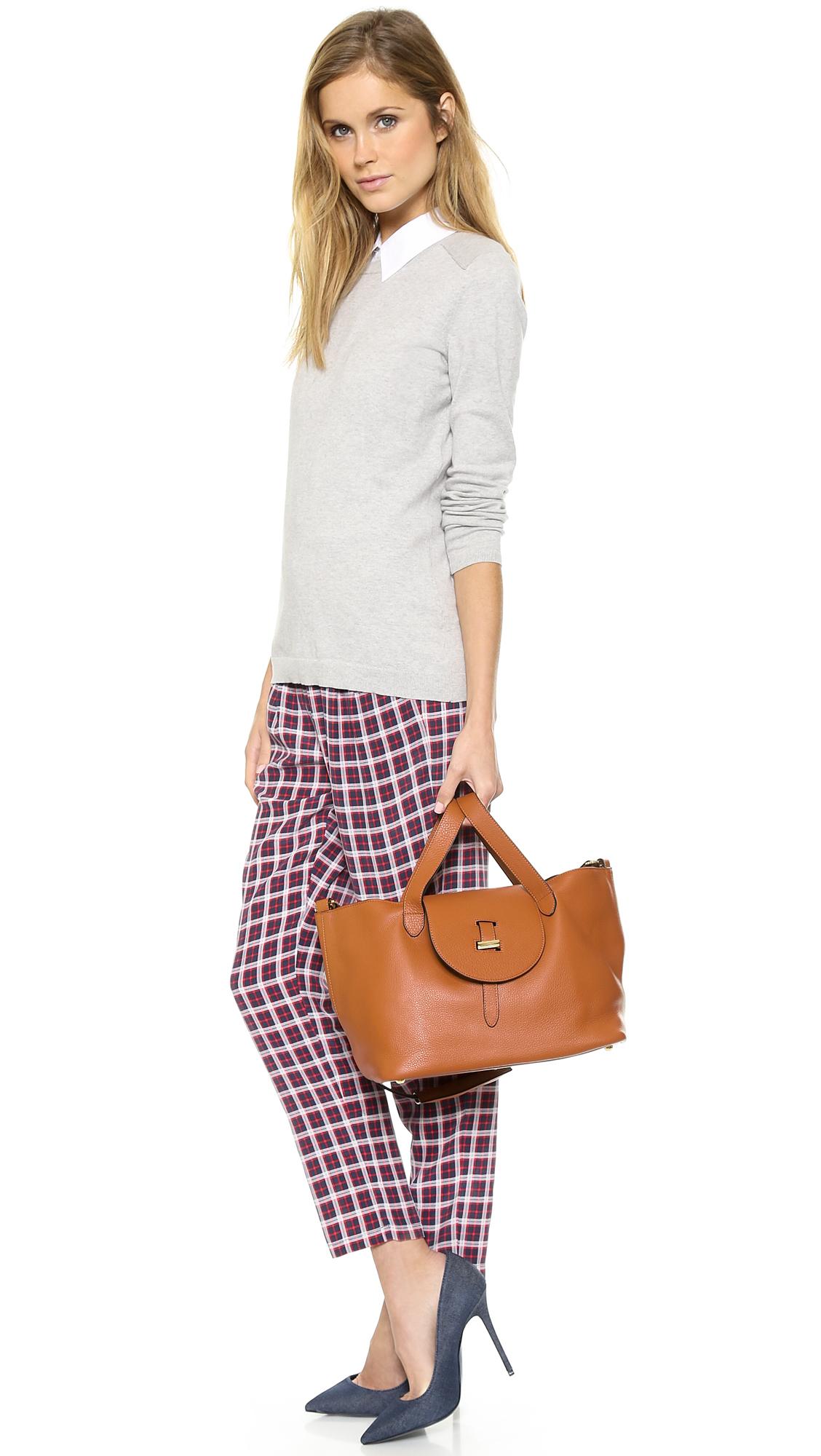 meli melo thela medium handbag in brown lyst. Black Bedroom Furniture Sets. Home Design Ideas