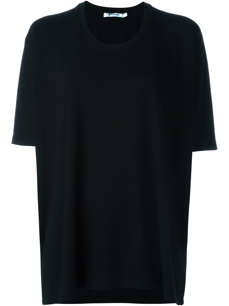 T by alexander wang oversized t shirt in black lyst for T by alexander wang t shirt