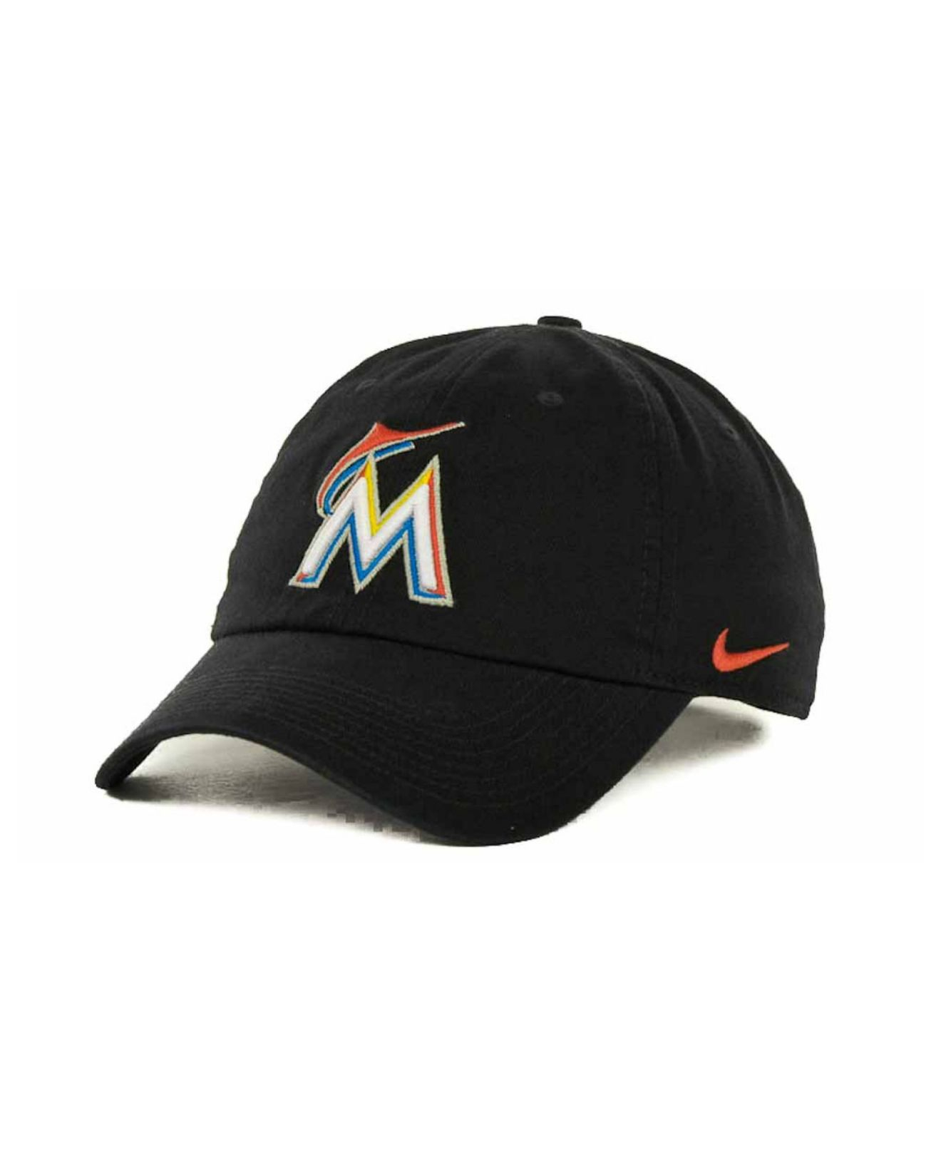 ... purchase lyst nike miami marlins stadium cap in black for men 3bc17  80639 a67b00ede476