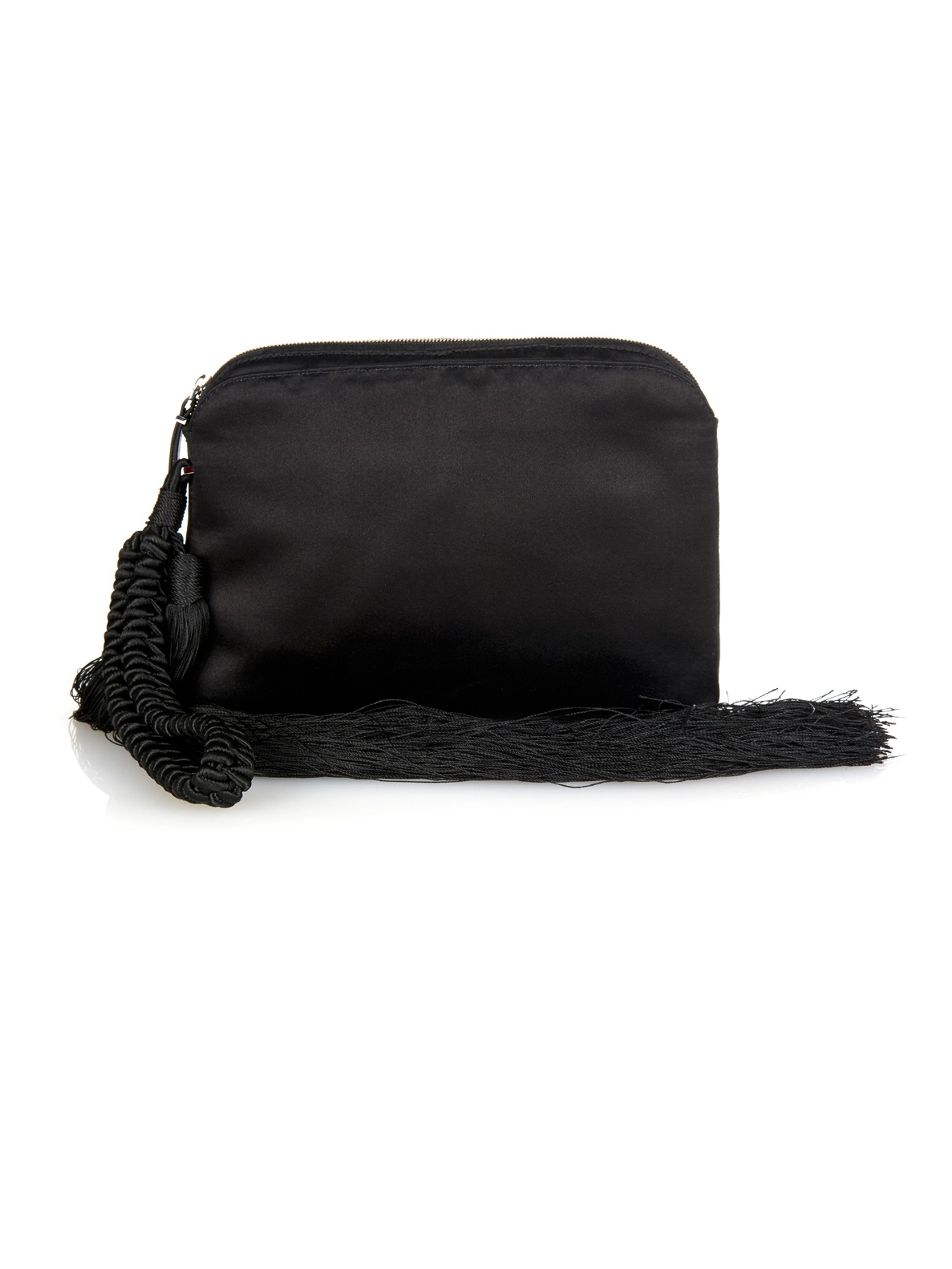 Wristlet Leather Clutch - Black The Row
